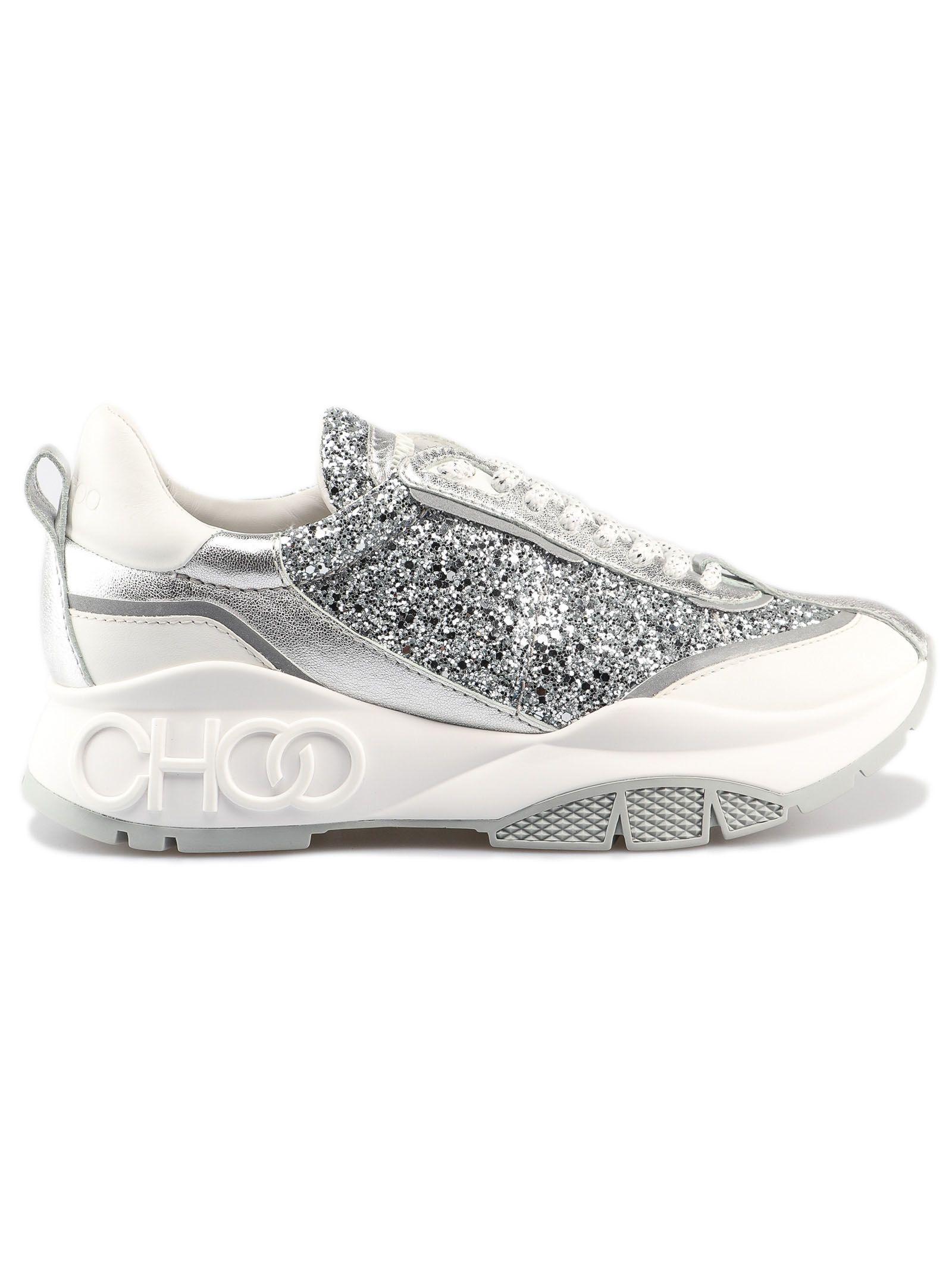 0c44ee4e0f3 Jimmy Choo Jimmy Choo Glitter Sneakers - Silver Mix - 10806129