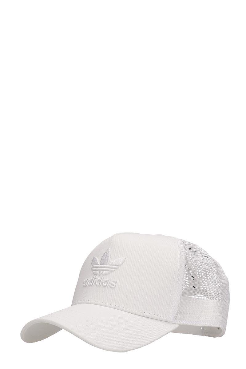 f6a911a2 Adidas Adidas White Cotton Trucker Trefoil Cap - white - 10881096 ...