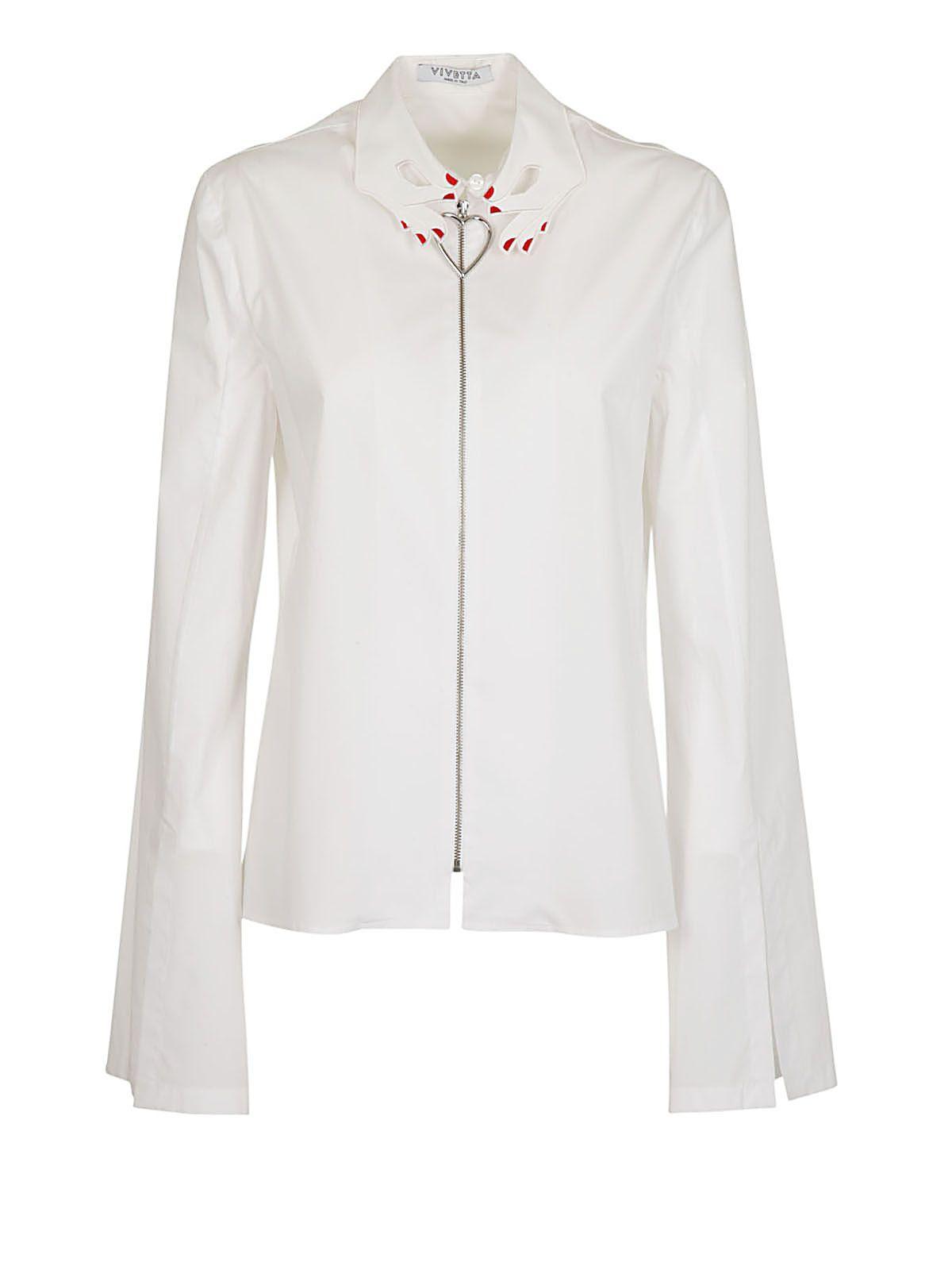 Vivetta Vivetta Embroidered Collar Shirt White 10559727 Italist