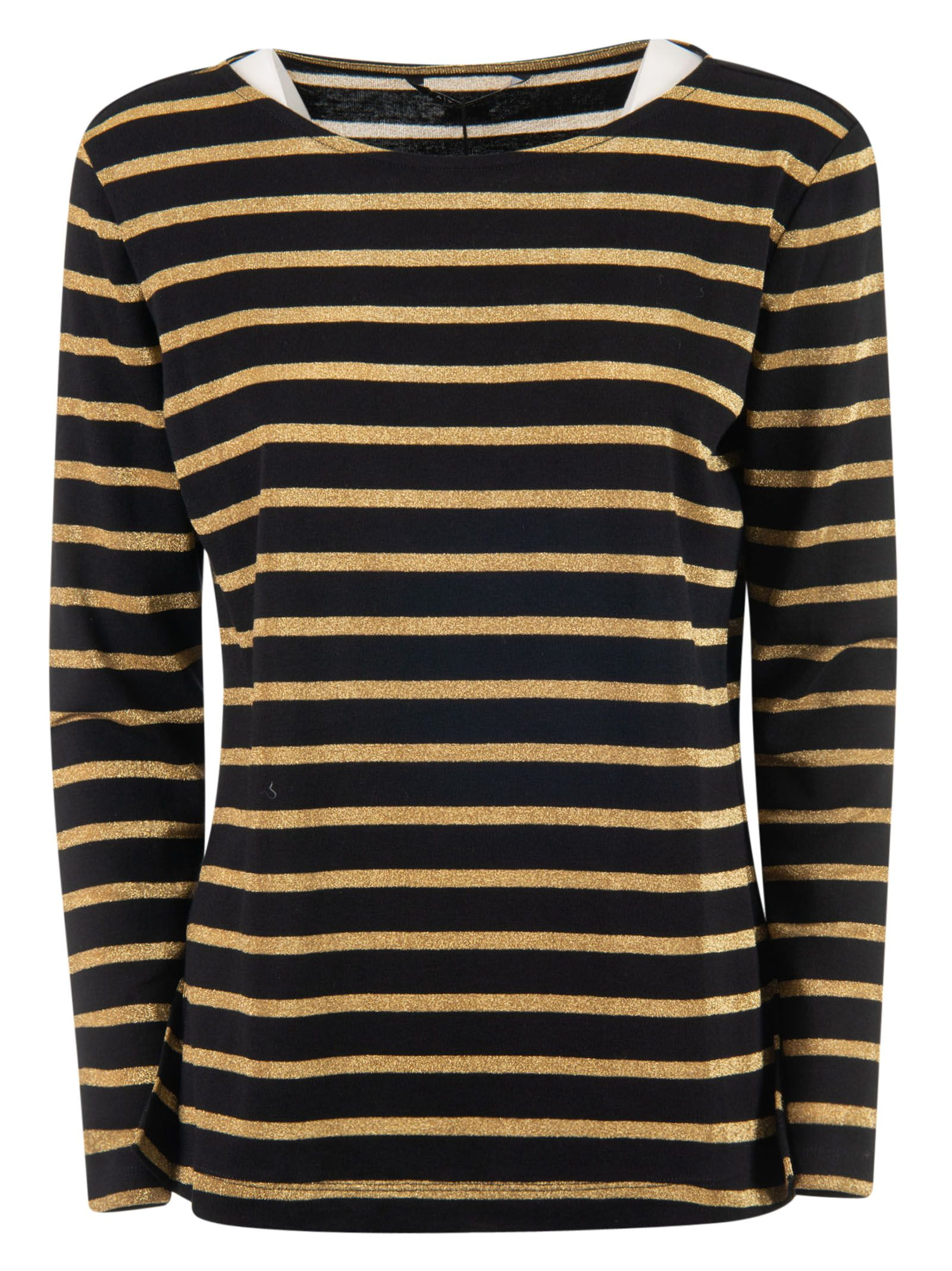 Armani Collezioni Armani Collezioni Striped Sweater Black Gold