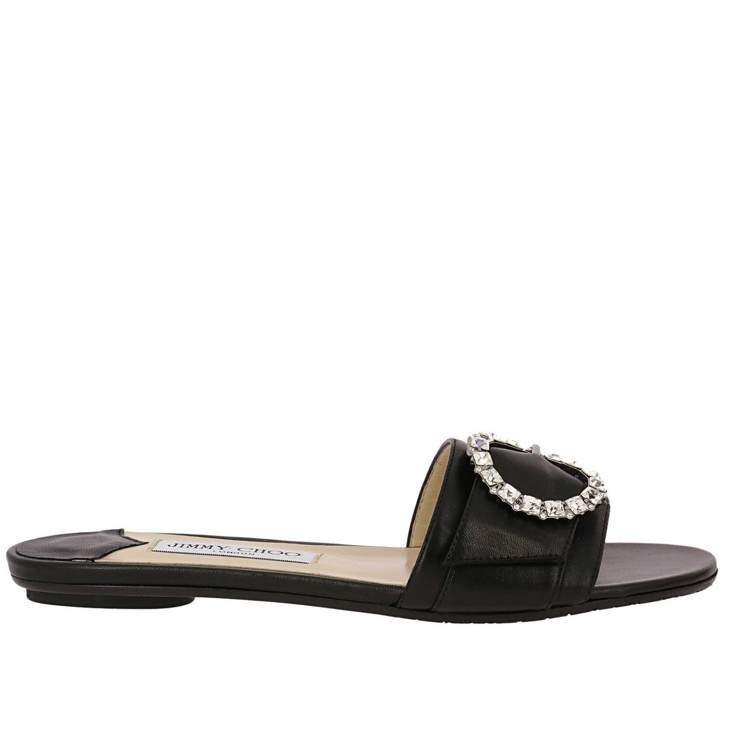 bfd73a5c3f Jimmy Choo Jimmy Choo Flat Sandals Shoes Women Jimmy Choo - black ...