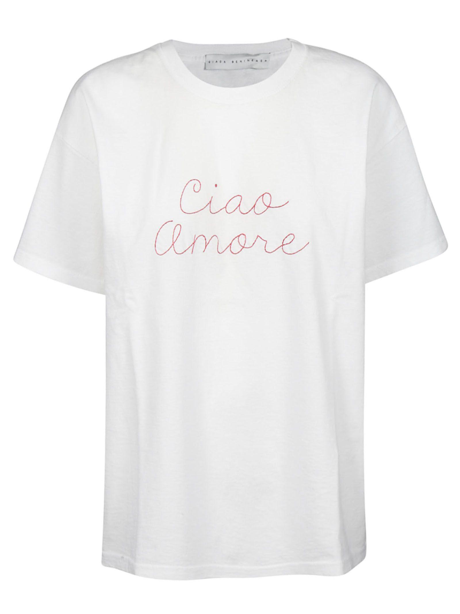 Giada Benincasa Giada Benincasa Ciao Amore T Shirt White