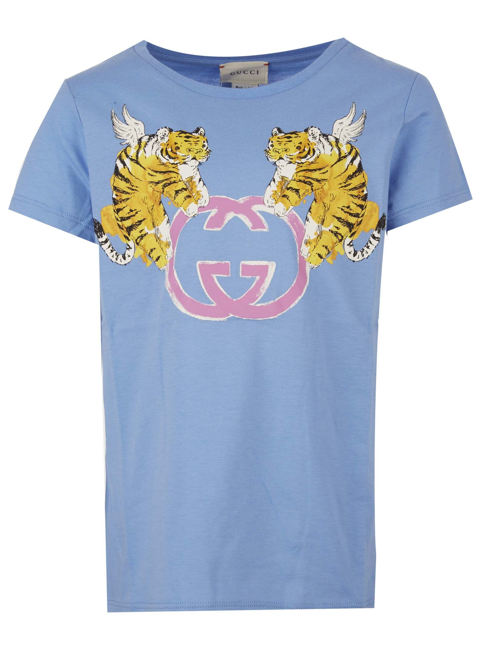 3ca0c8b4 Gucci Gucci Junior T-shirt - Light blue - 10924635 | italist