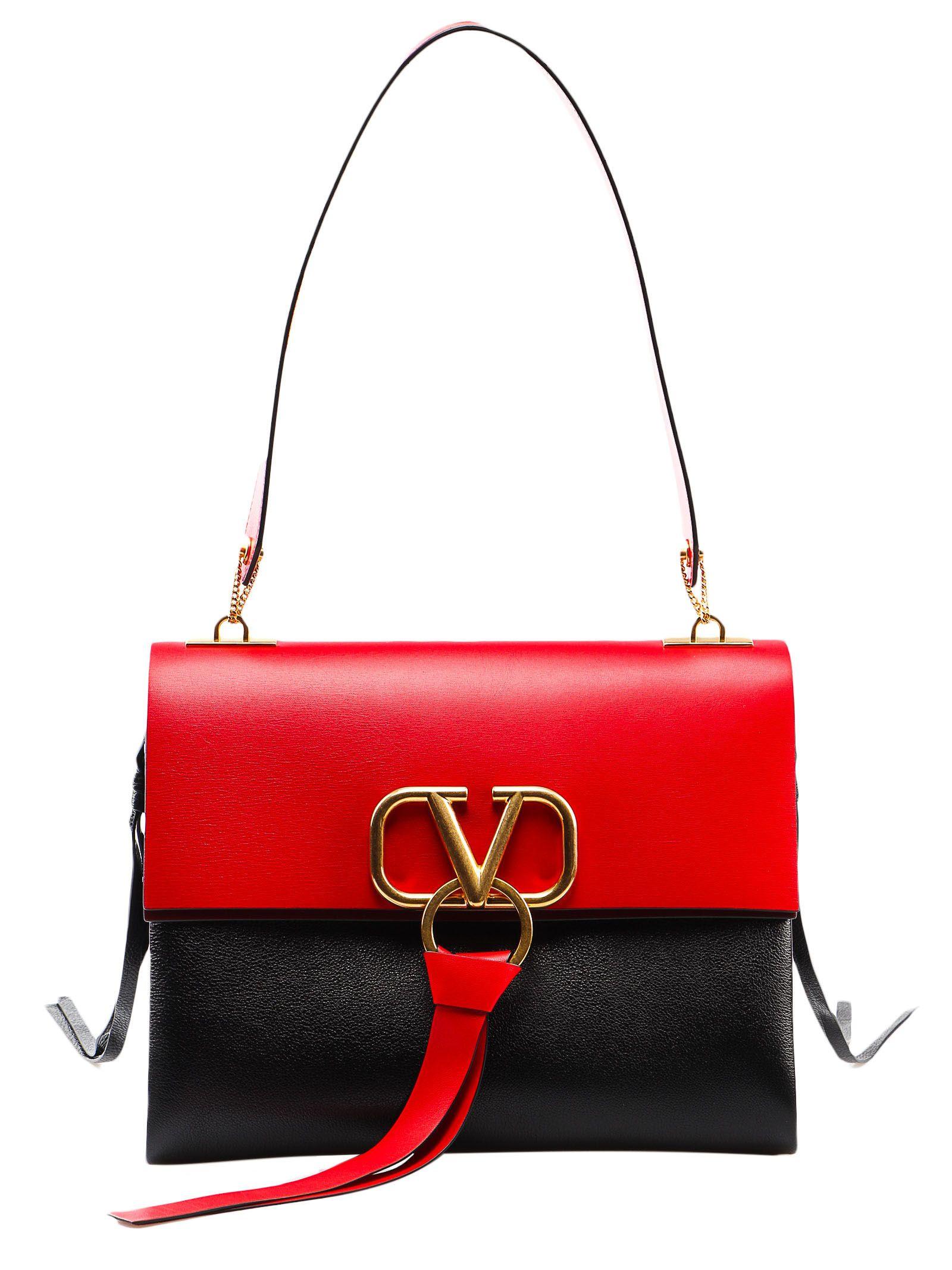 e95055b37f Valentino Garavani Valentino Garavani Medium V Ring Shoulder Bag ...