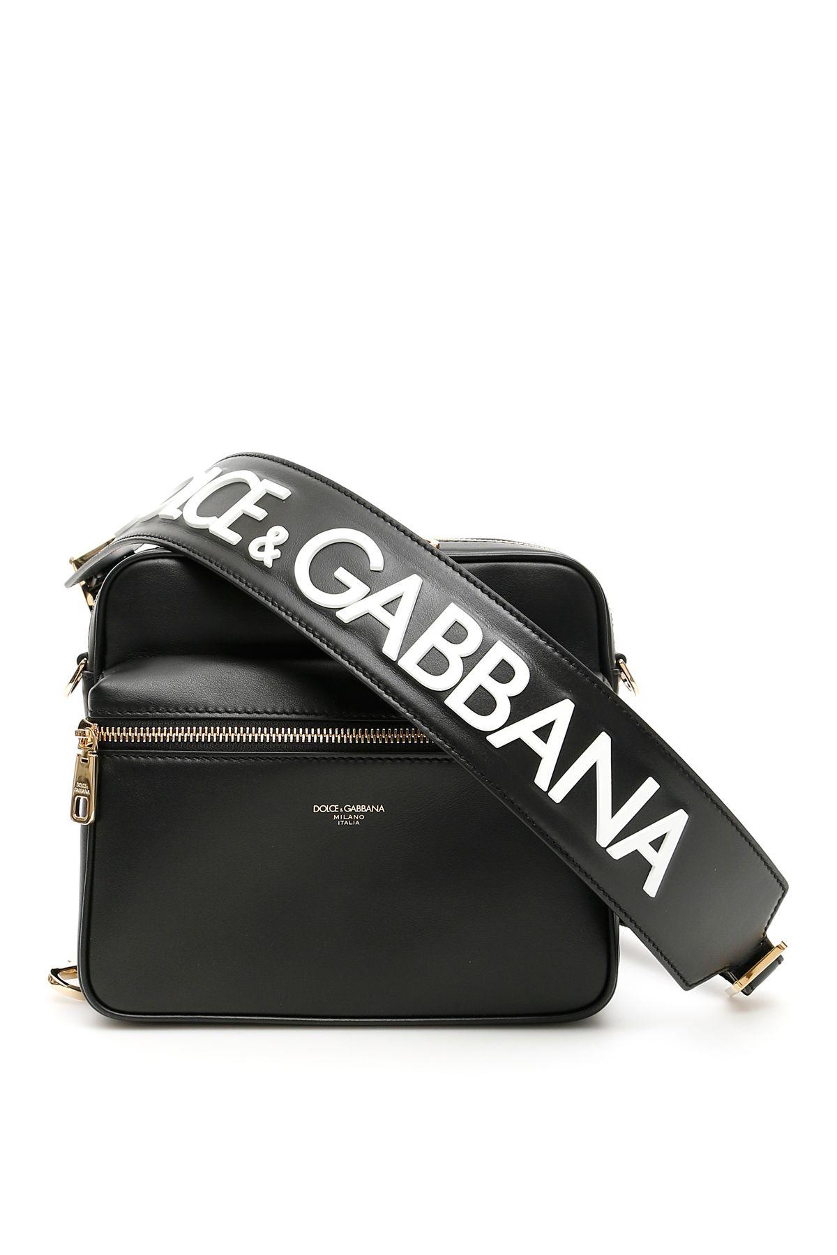 69ce9acc015 Dolce & Gabbana Dolce & Gabbana Logo Messenger Bag - D G FDO NERO ...