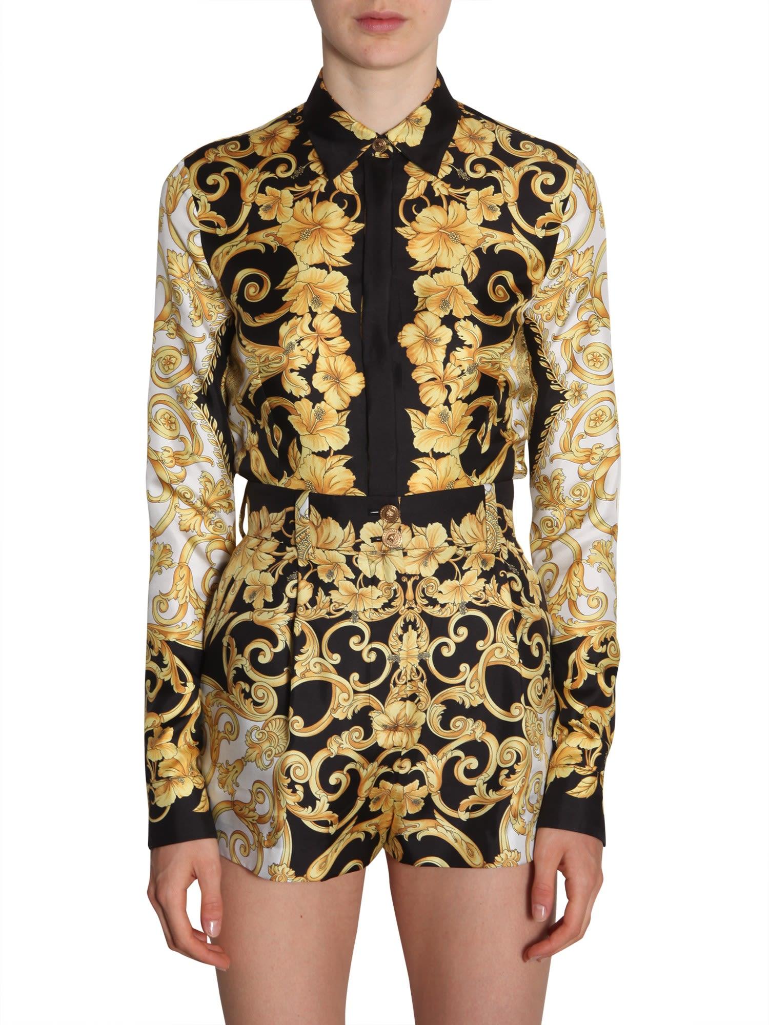 1c84b9d23ba236 Versace Versace Silk Shirt - MULTICOLOR - 10787923