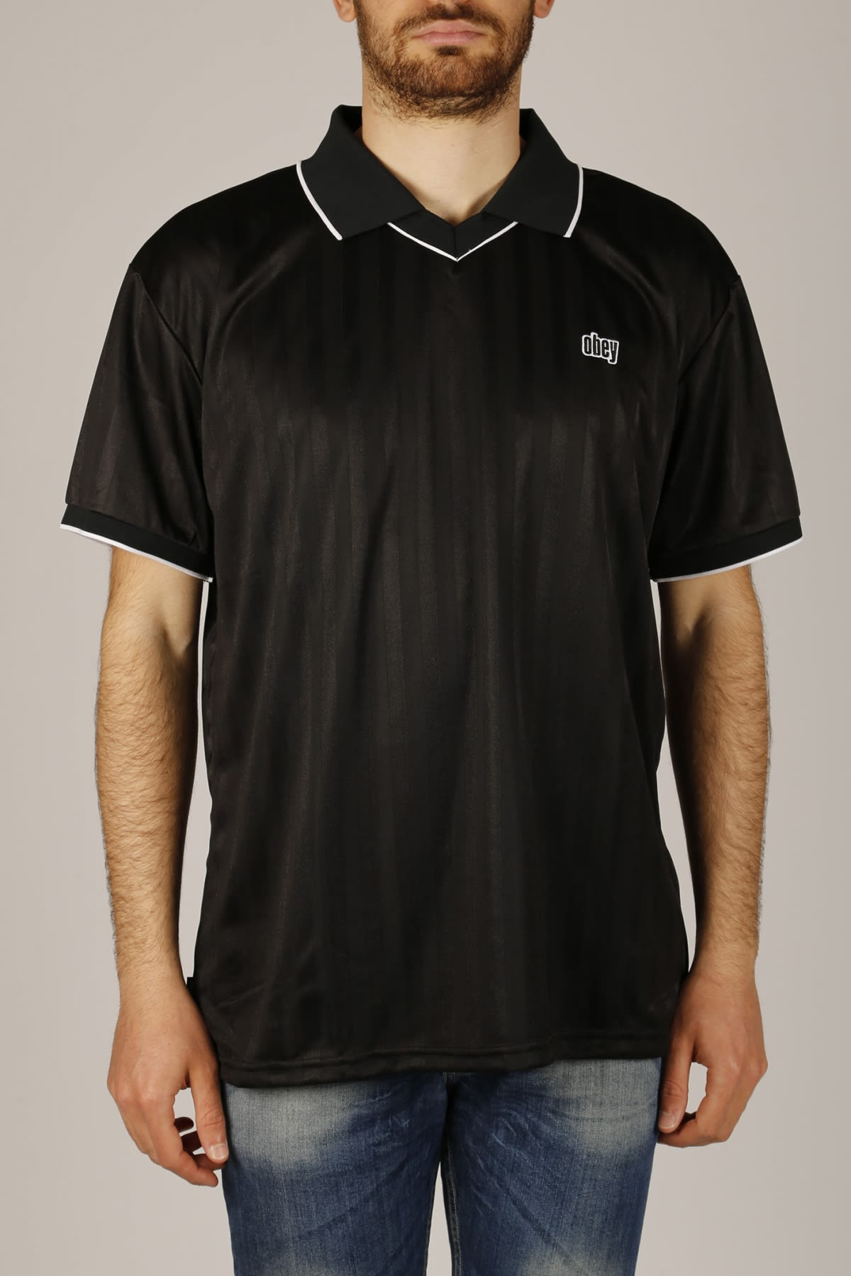 3410dfcb Obey Obey Polo Harry Soccer - Black - 10910882 | italist