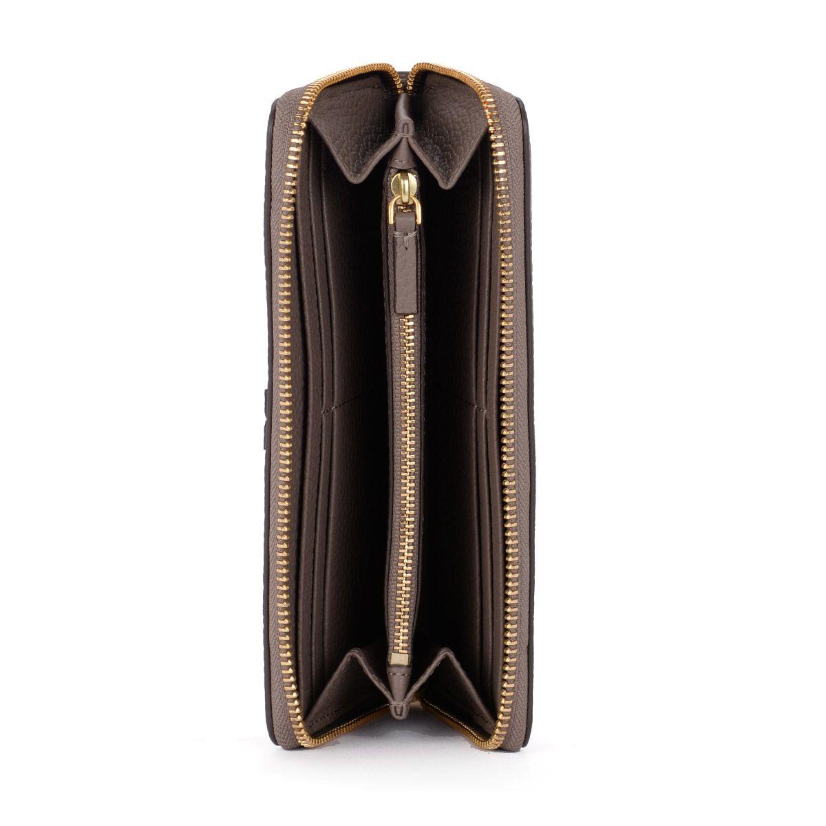 2a5c4ad61b Tory Burch Tory Burch Mcgraw Grey Leather Wallet - GRIGIO - 10753821 ...