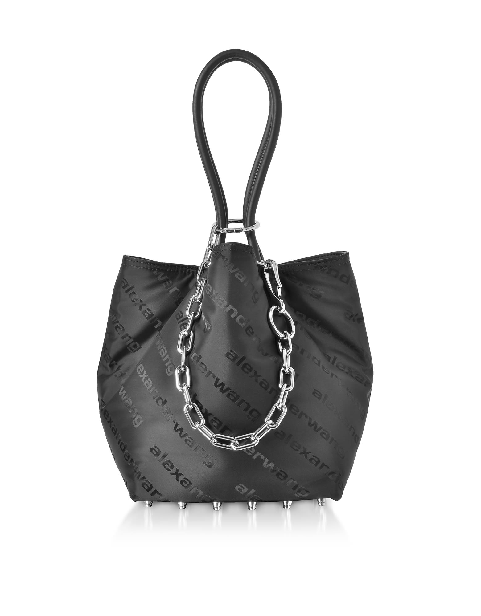 5ded385650 Alexander Wang Black Aw Signature Roxy Soft Small Tote Bag - Black ...