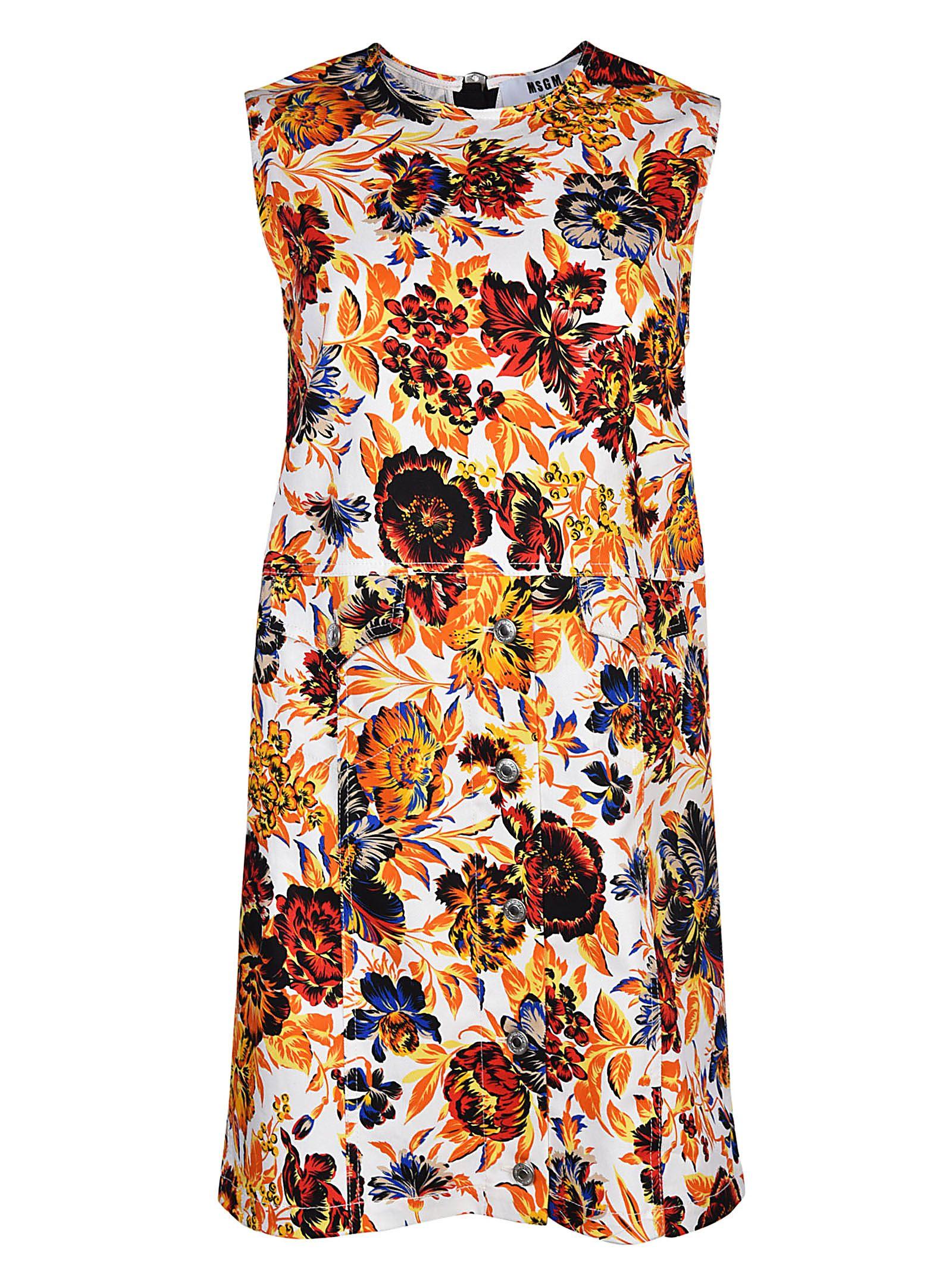 cfd59cc2bd46 MSGM Floral Print Shift Dress - Multicolor ...