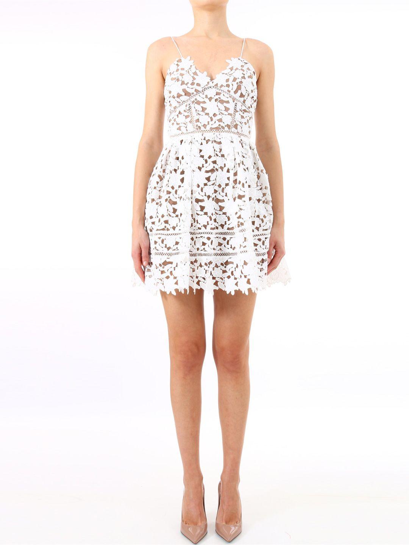 3f0f2c404ad0 self-portrait self-portrait Mini Dress Azalea White - White ...