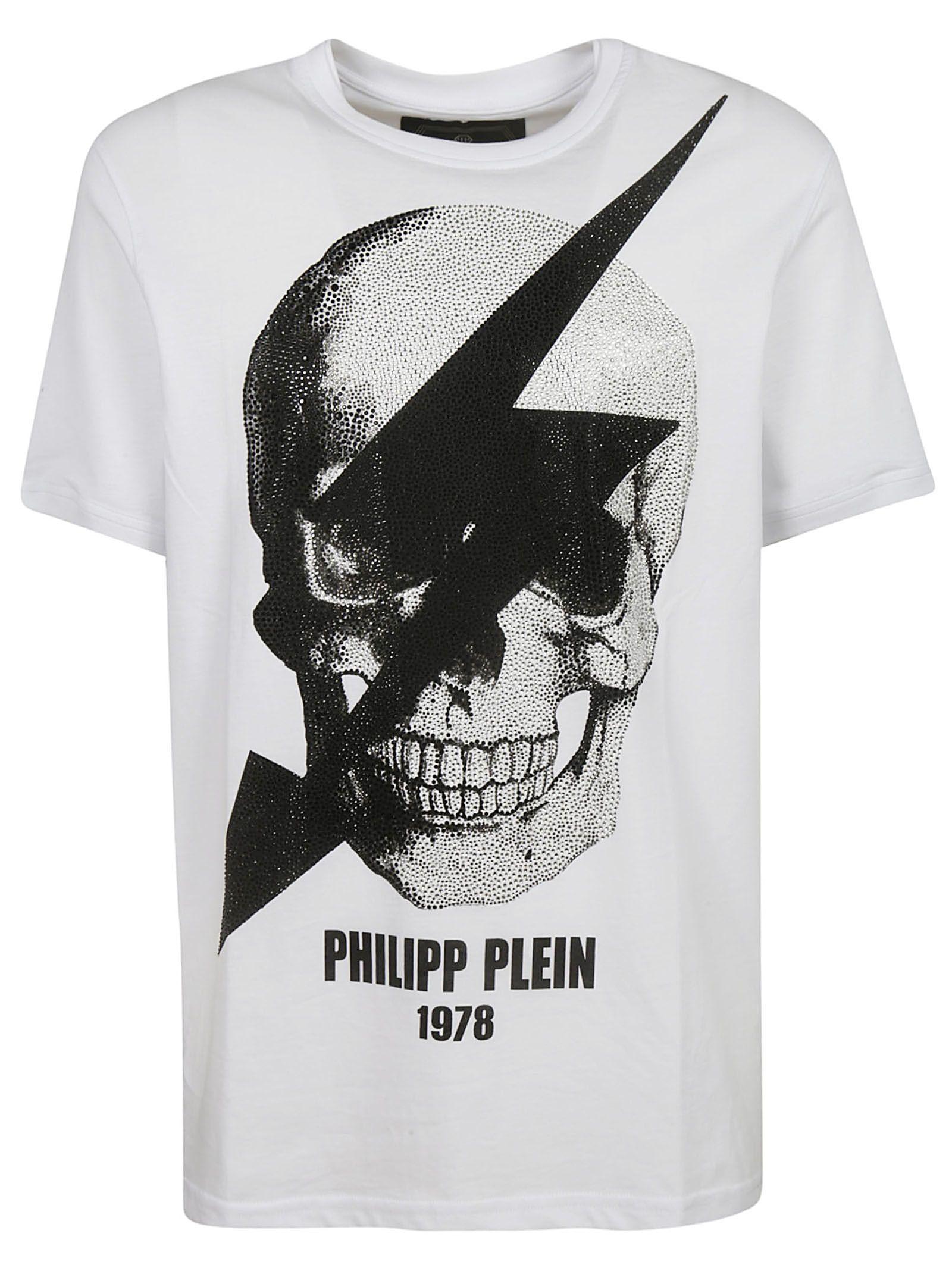 1f68b596c8 Philipp Plein Philipp Plein Skull Print T-shirt - White/Black ...