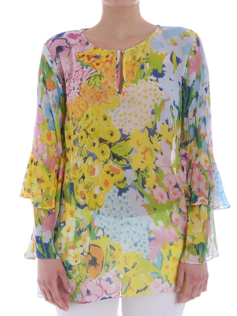 da4e8337a2cef Boutique Moschino Boutique Moschino Viscose And Silk Blouse - MULTICOLOR ...