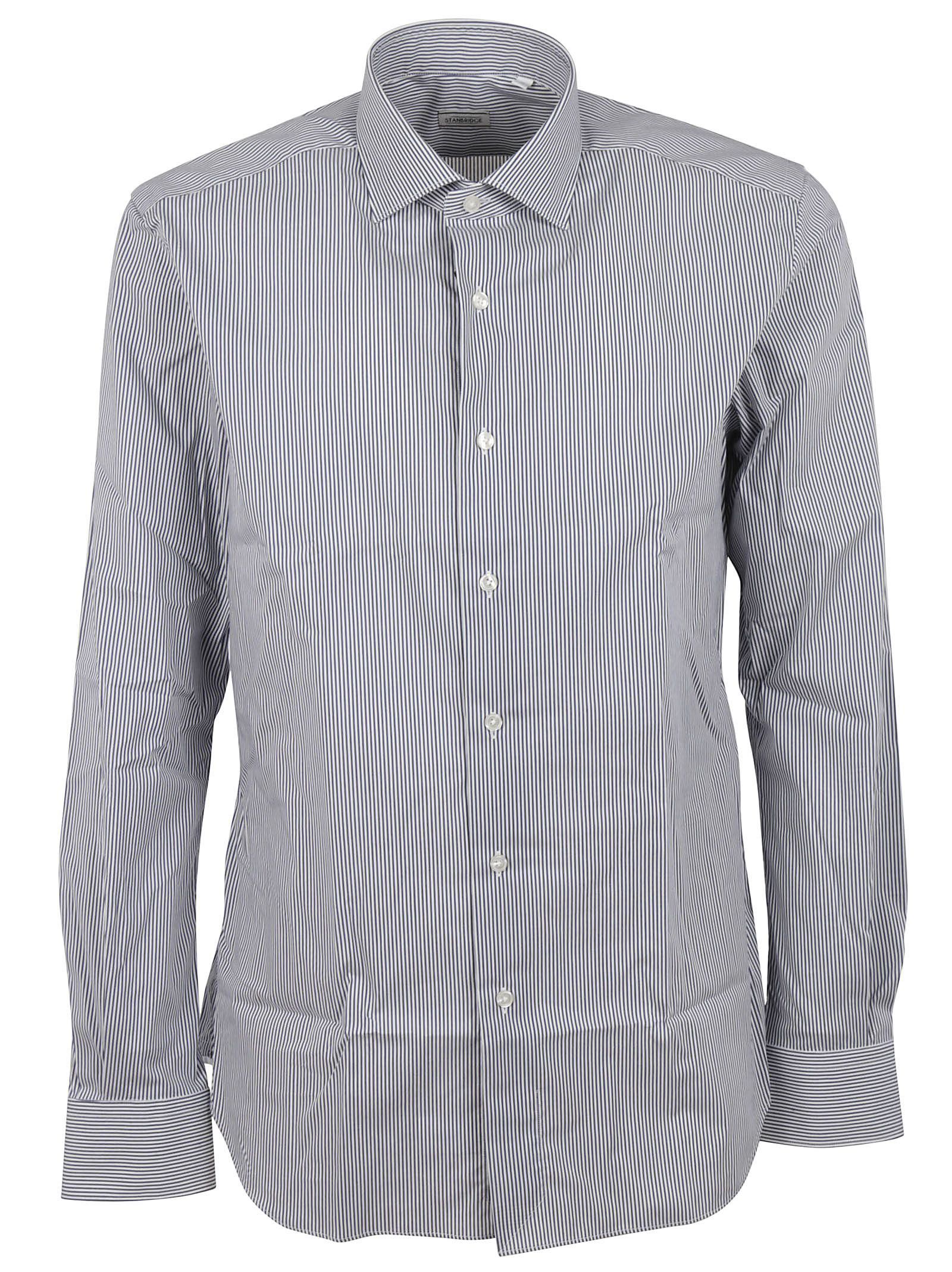 f88d82e95a96 Xacus Xacus Pinstripe Shirt - Blue - 10510202