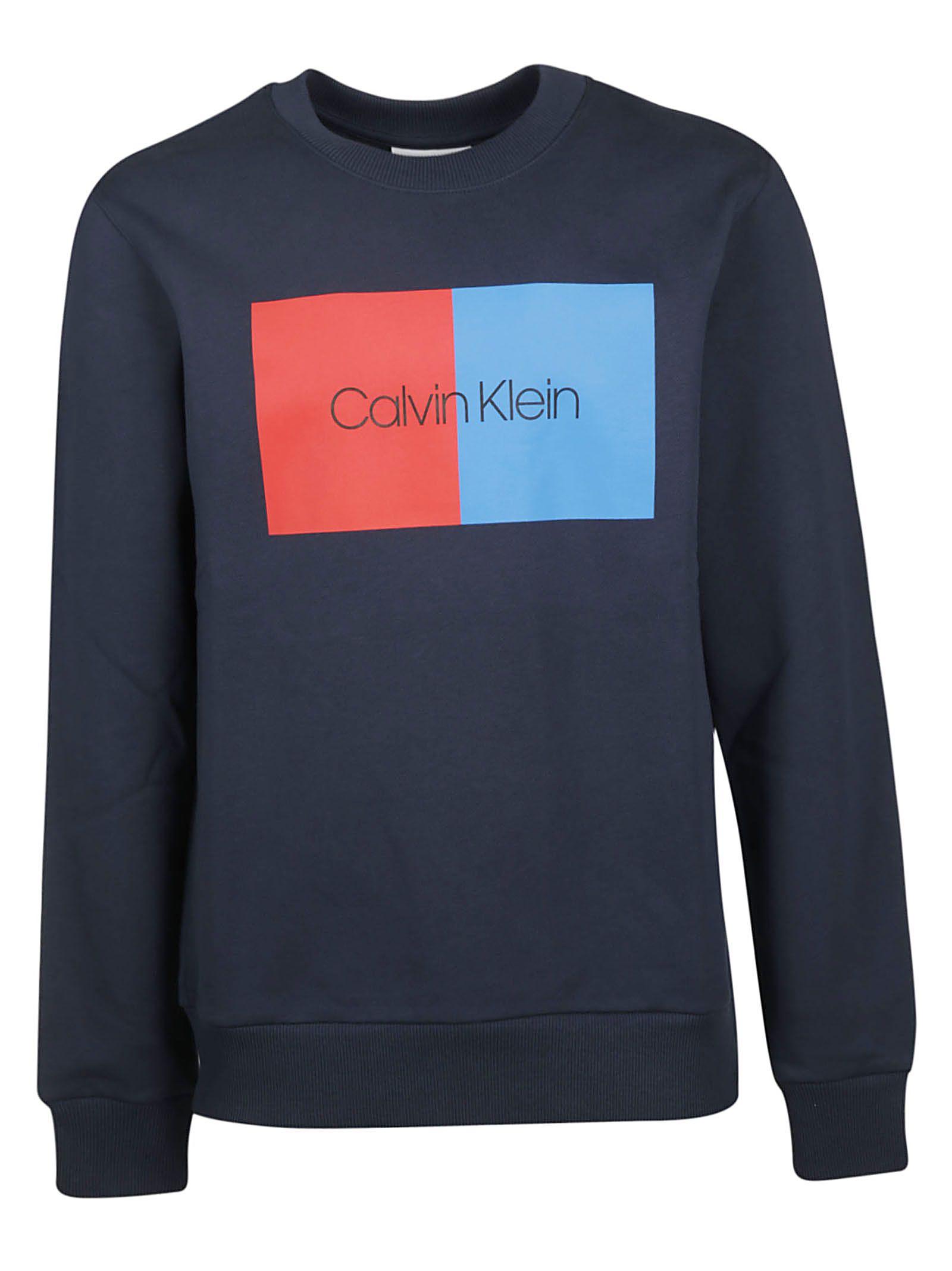 Blue Logo 10811687 Calvin Sweatshirt Klein Print WHb9ID2EYe