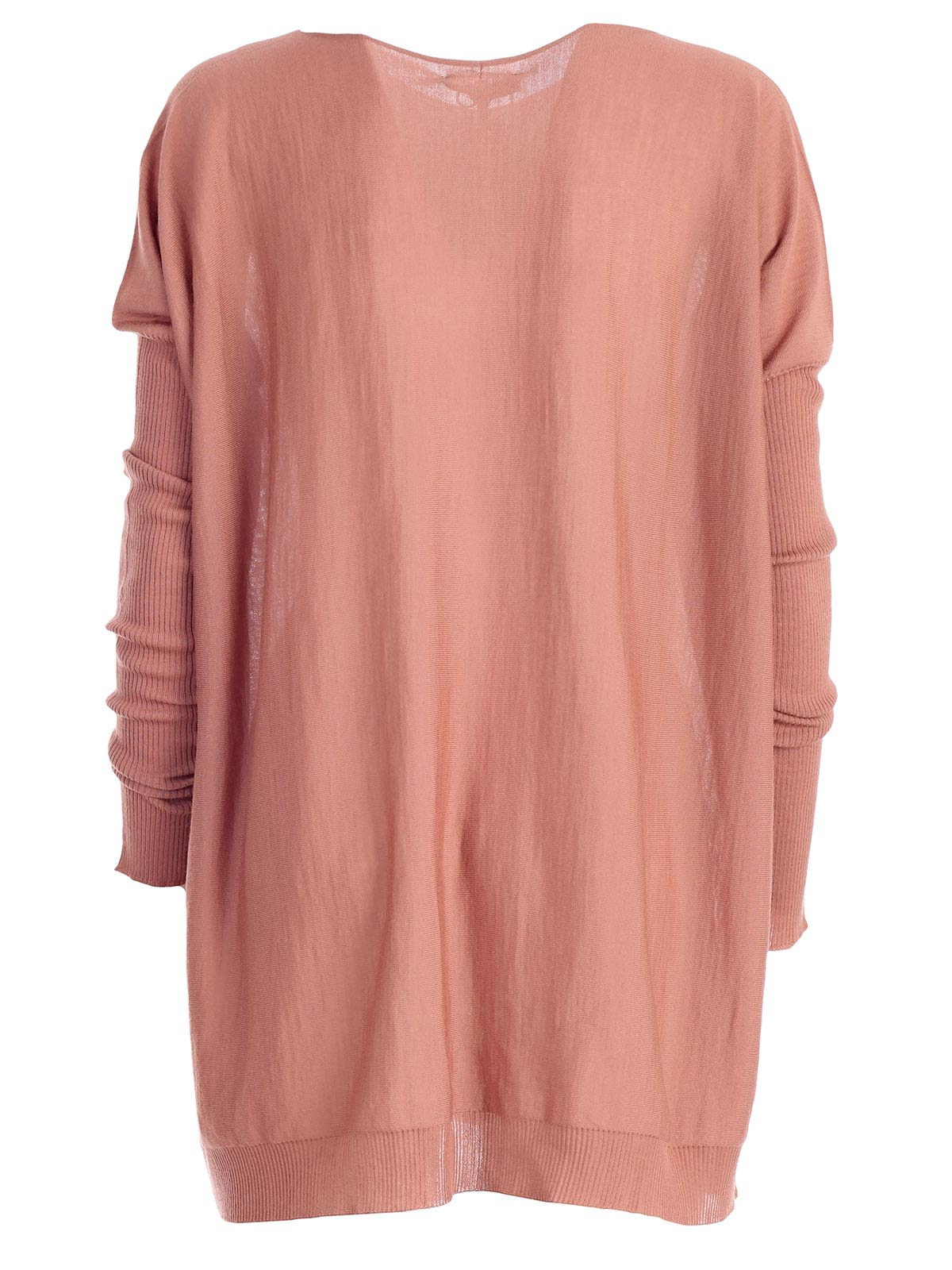 Mant 249 Mantu Boxy Knitted Top Rosa Scuro 10651672 Italist