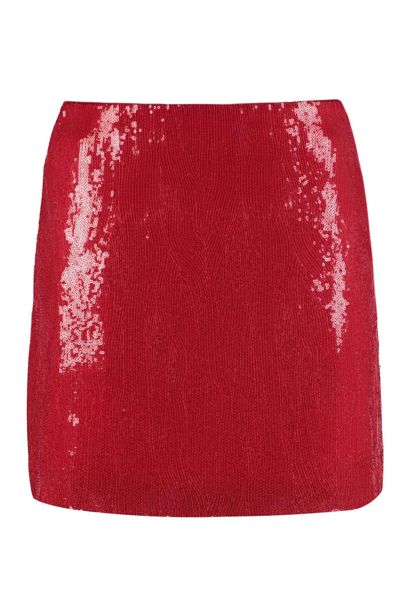 1508f9fa4d Alberta Ferretti Alberta Ferretti Sequins Mini Skirt - red ...