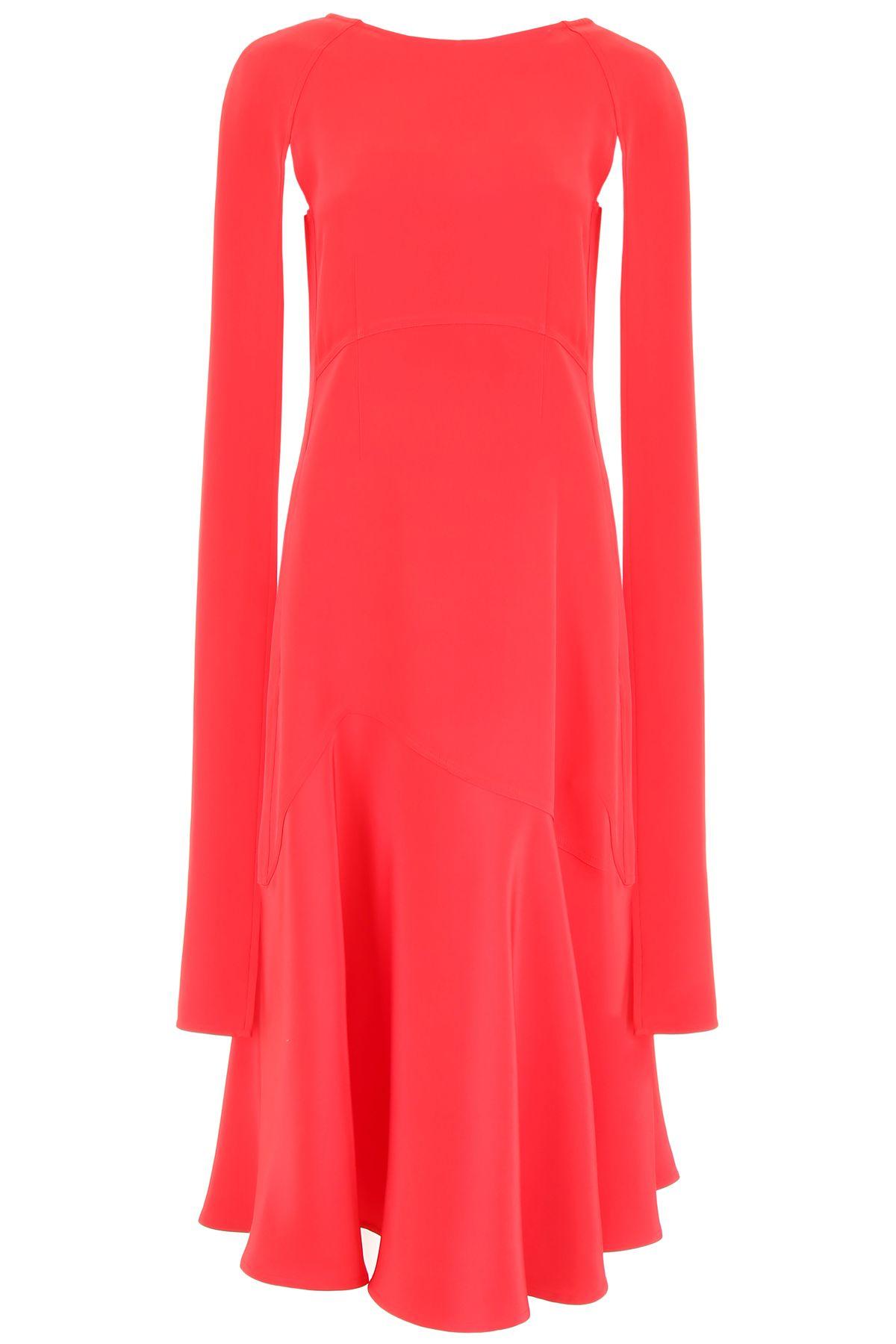 072e5a30afa Calvin Klein Calvin Klein Long Dress With Open Sleeves - RED PINK ...