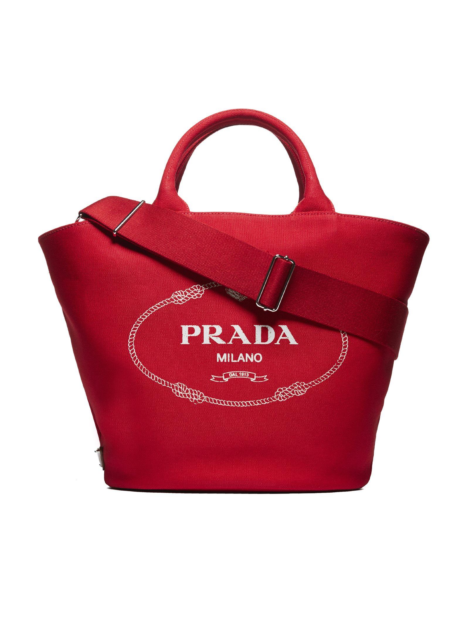209cb7f5751a Prada Prada Giardiniera Shopper Bag - Rosso - 10786950   italist