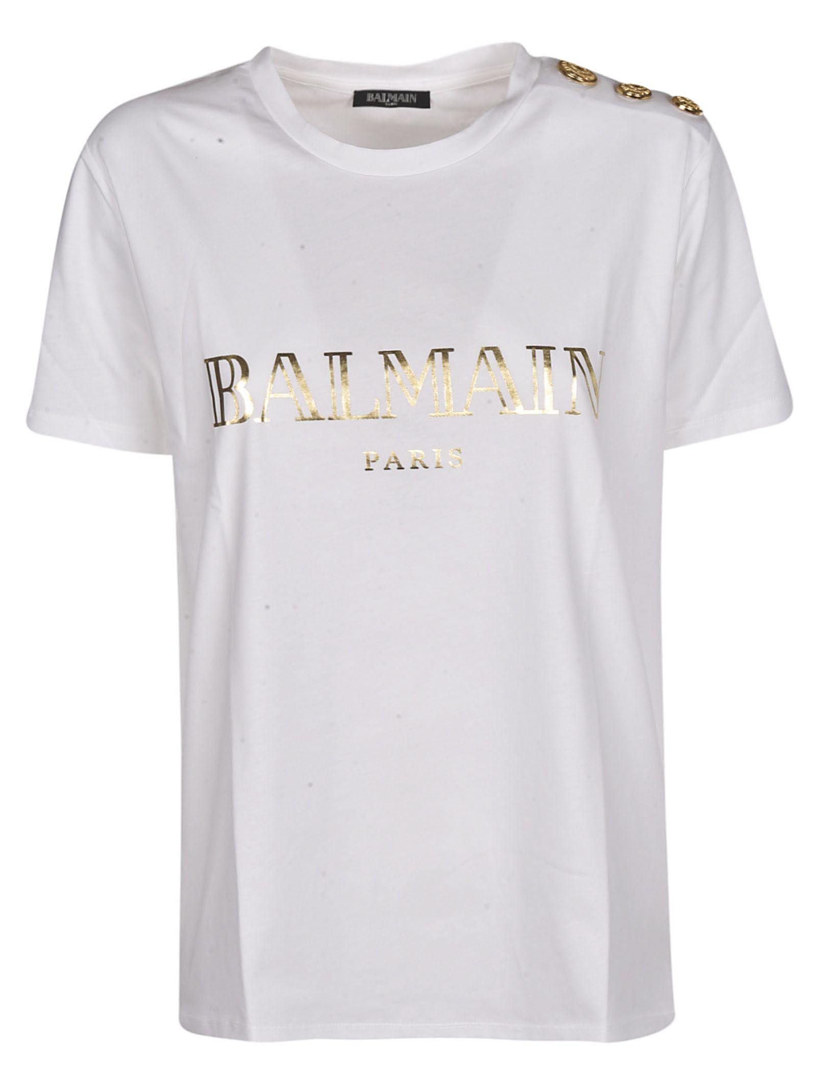 974ac80b4 Balmain Balmain Logo T-shirt - White - 10817625 | italist