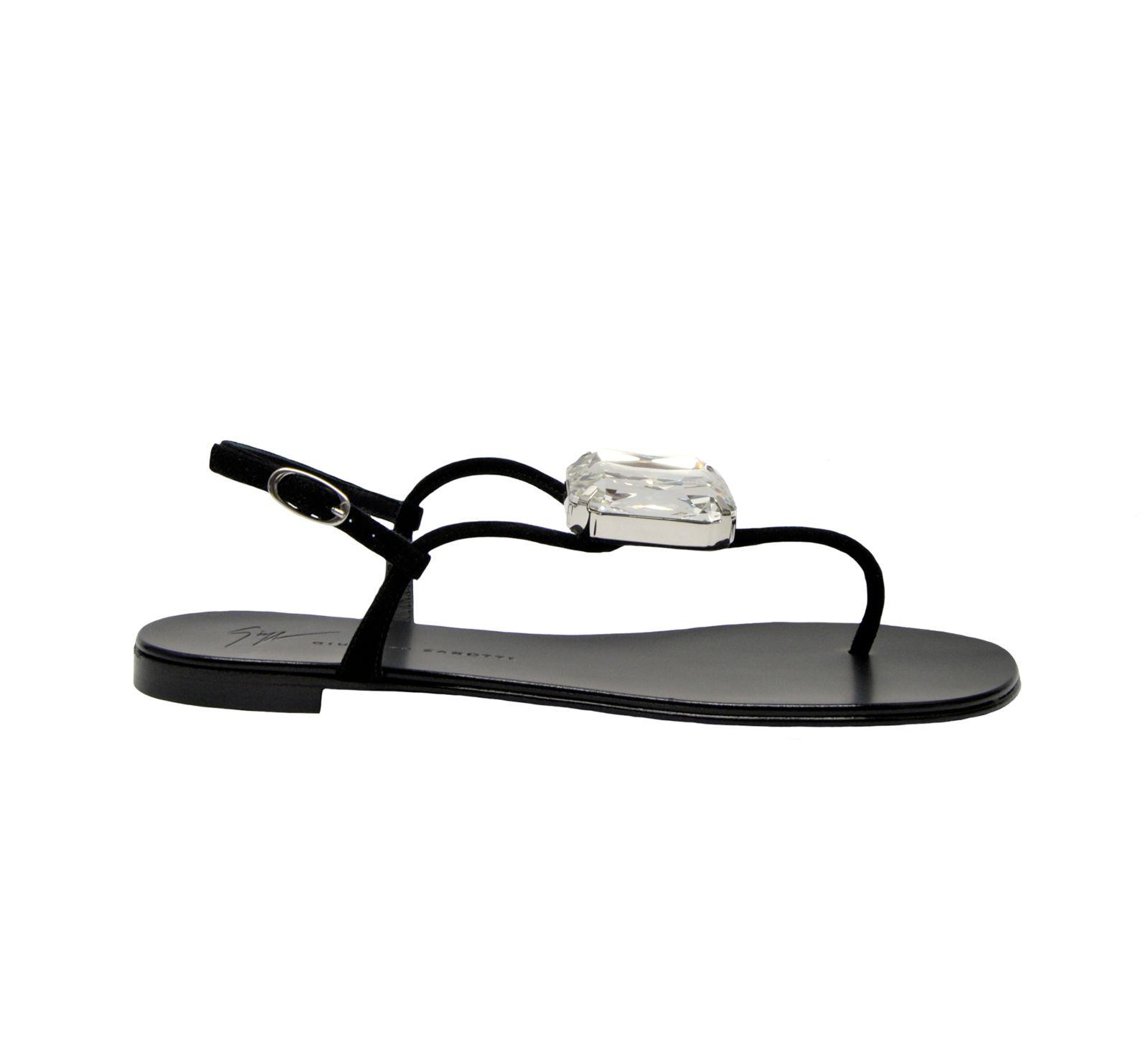 5274e8a205d0f Giuseppe Zanotti Giuseppe Zanotti Embellished Flat Sandals - Nero ...