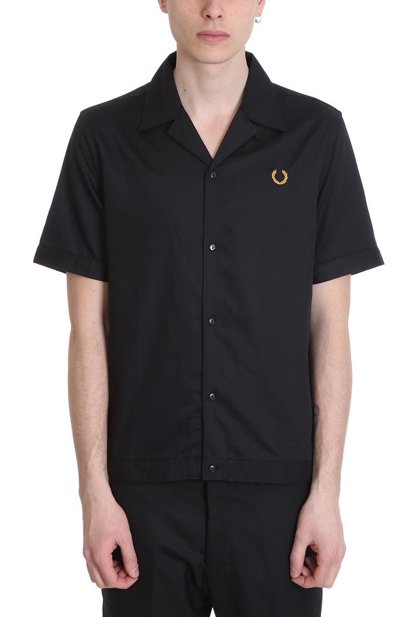 cb0c4ea0c Fred Perry Fred Perry Bowling Black Cotton Shirt - black - 10921919 ...