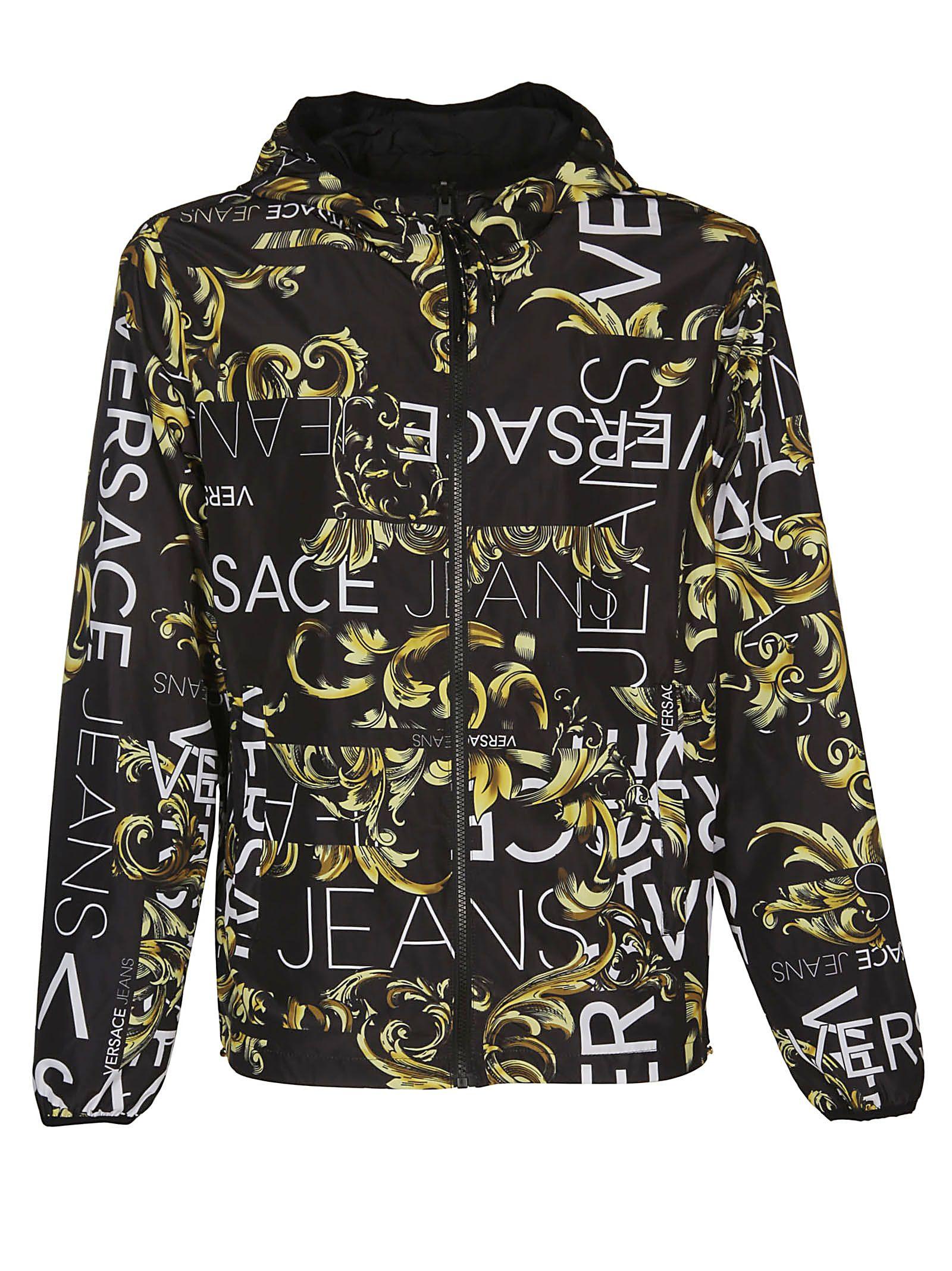 d0efc788f7 Versace Versace Versace Reversible Hooded Jacket - Multicolor ...
