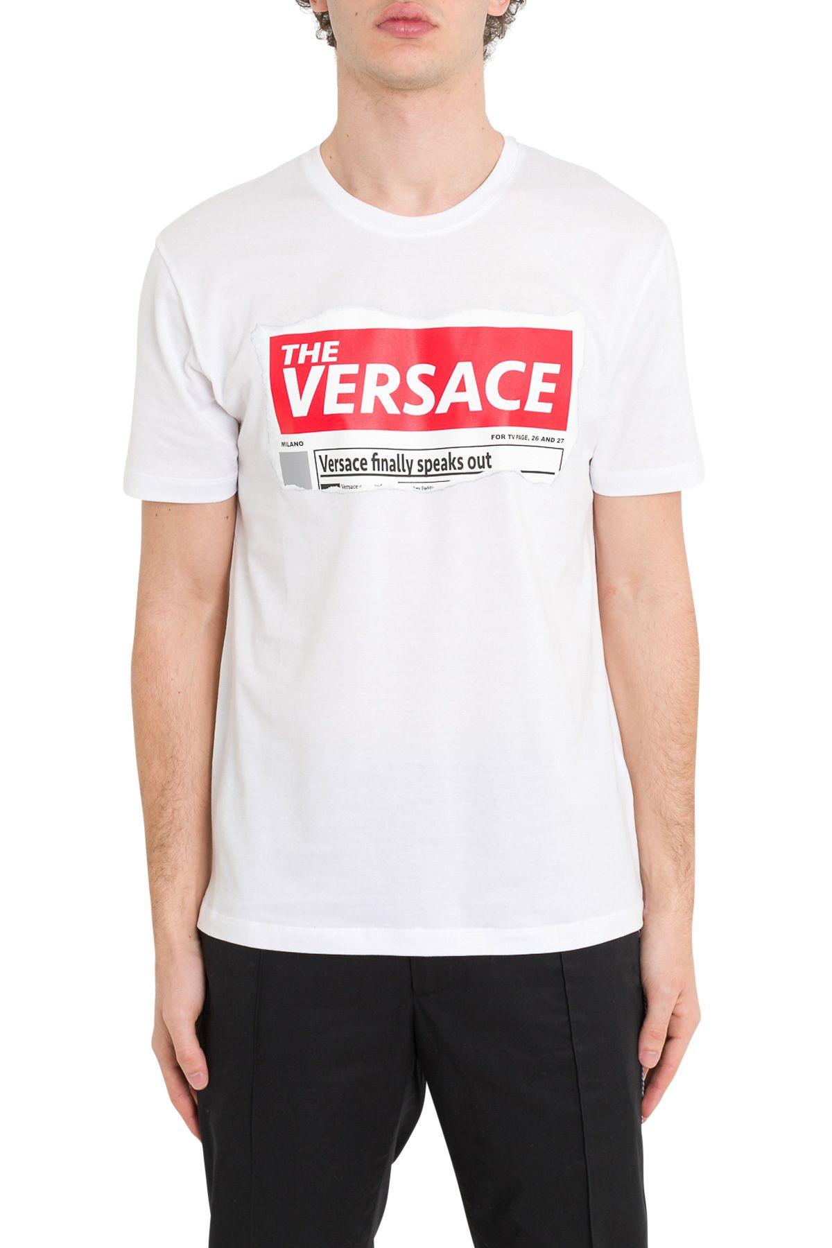 b9541a50c Versace Versace Versace Speaks Out Tee - Bianco - 10803404 | italist