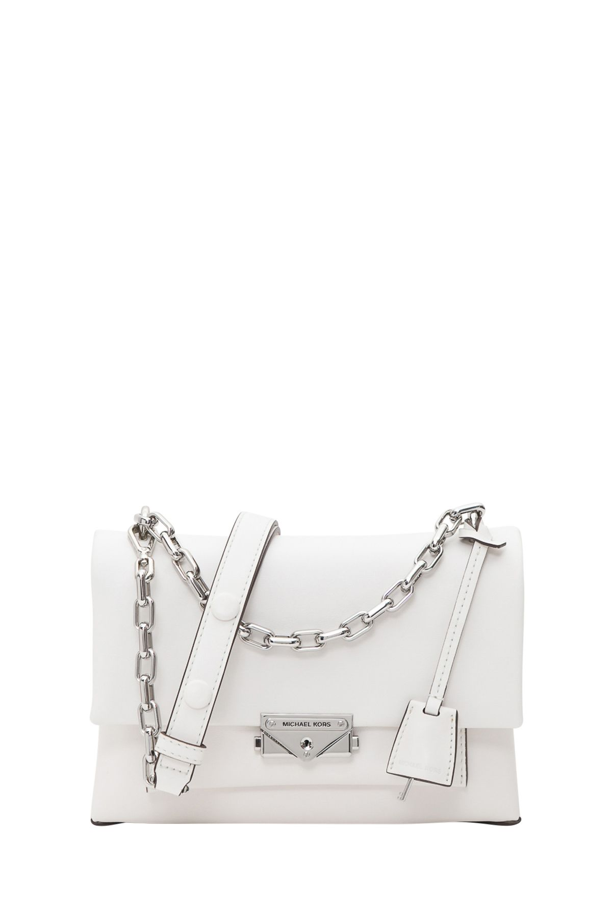 1f7ebb94332e45 MICHAEL Michael Kors Cece Large Leather Shoulder Bag - Bianco ...