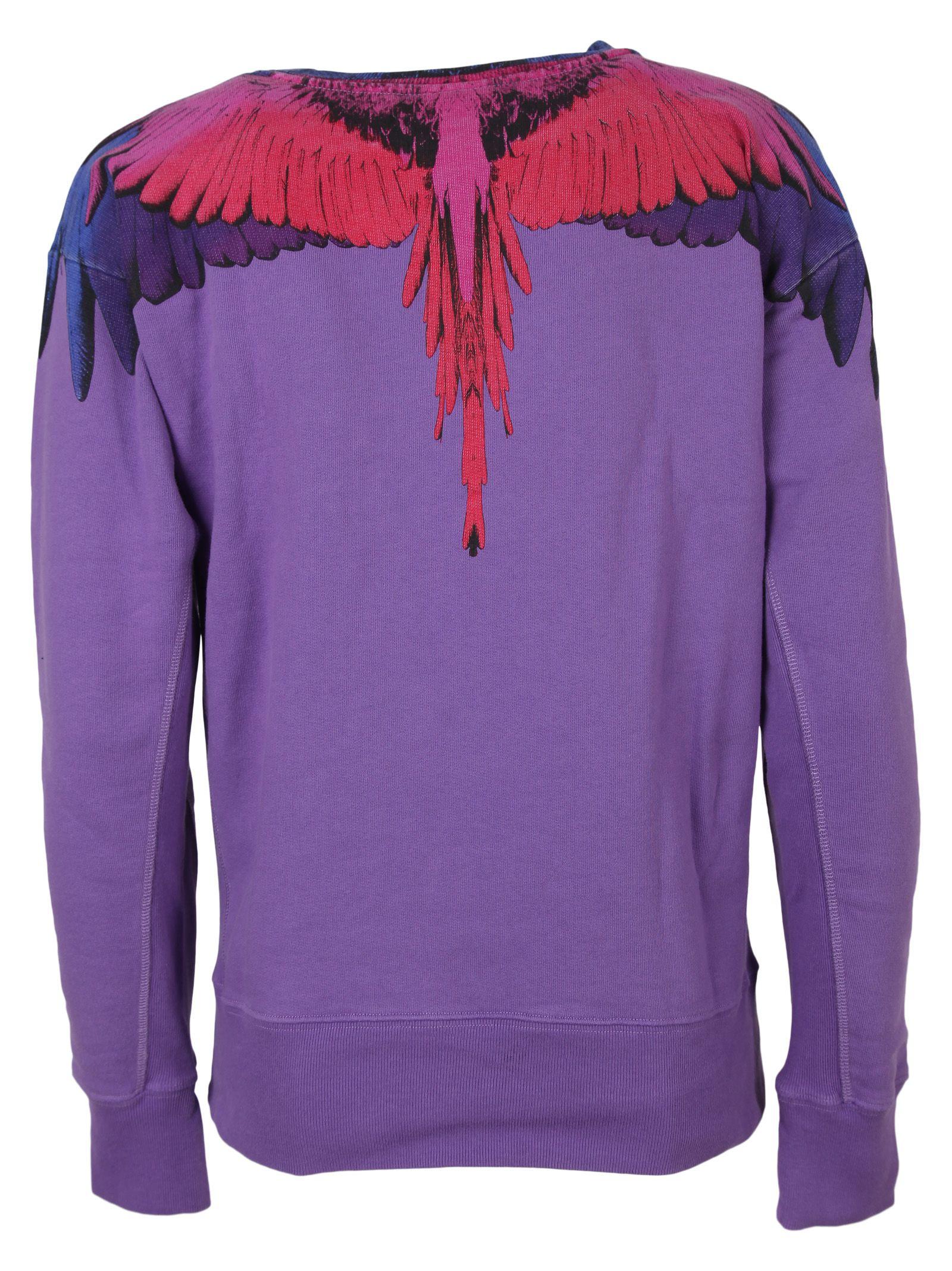 Violet Pin Wings Burlon Sweatshirt Marcelo Print gwURx