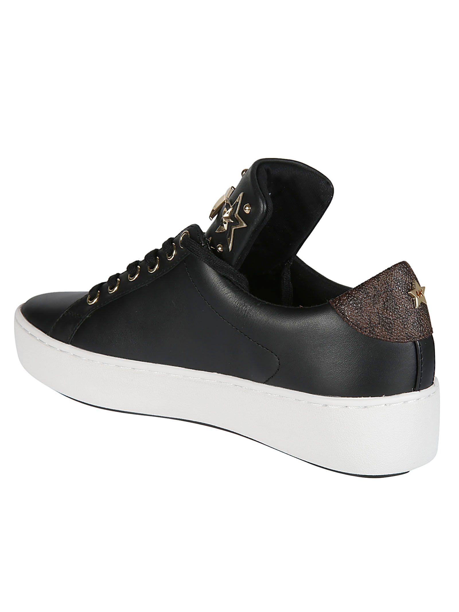 63ca37195fa Michael Kors Michael Kors Star Studded Sneakers - Black/White ...