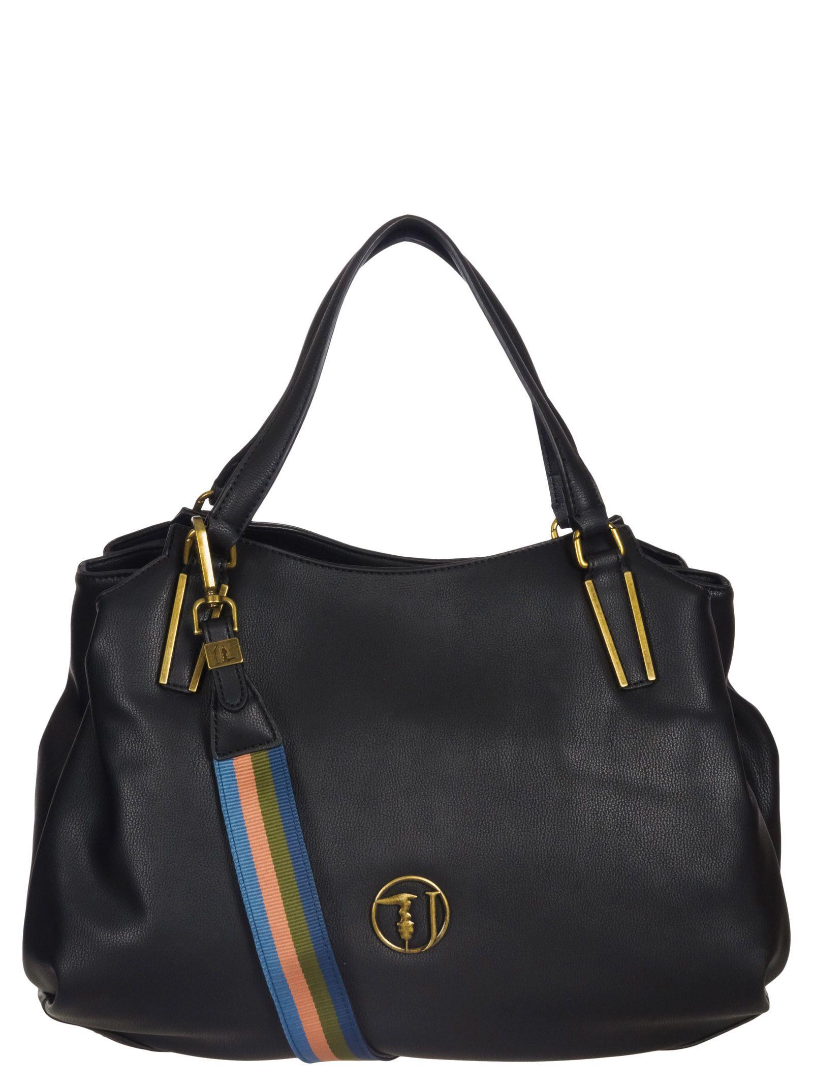 Trussardi Jeans Trussardi Jeans Rabarbaro Medium Tote Bag - Black ... f113a36cabf17