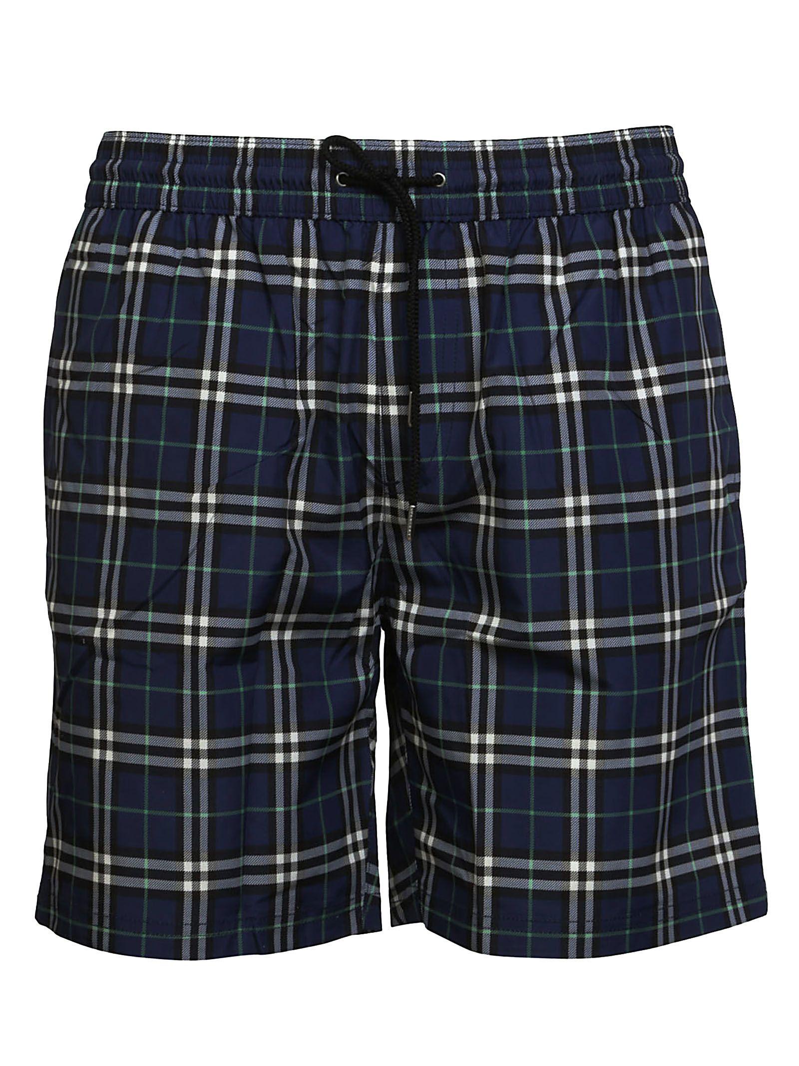 4a01867627 Burberry Burberry Check Guildes Swim Shorts - Blue - 10578896 | italist