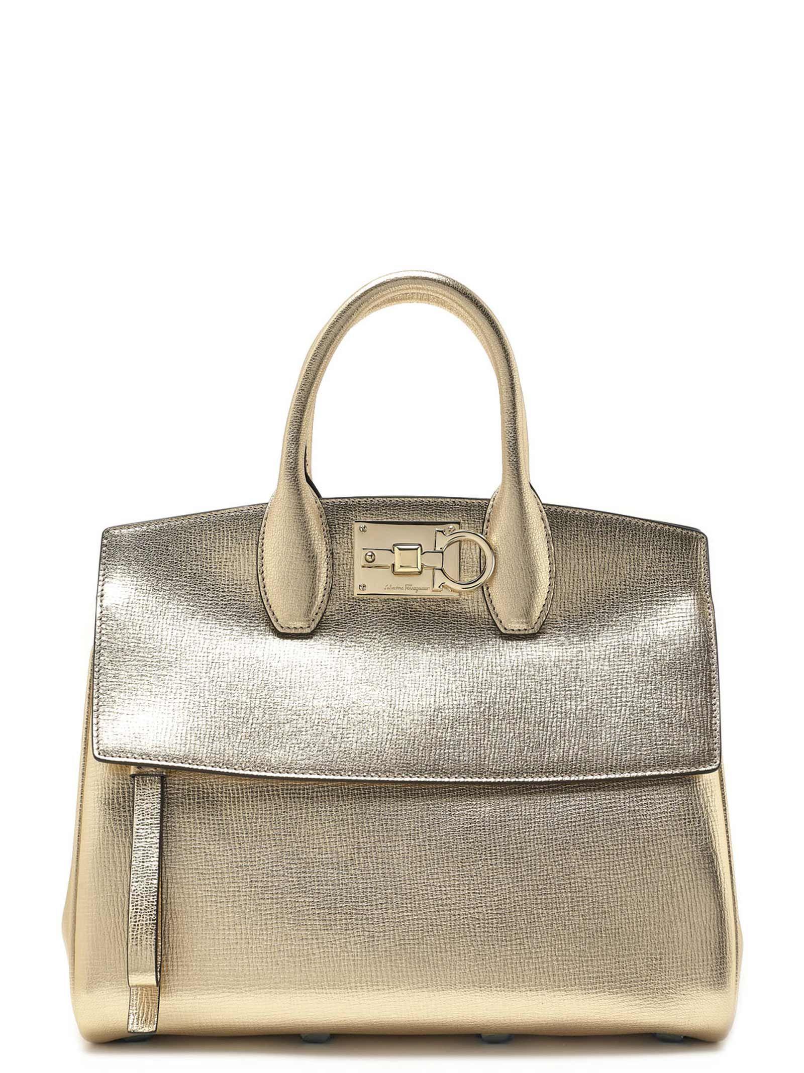 ee4c96318d Salvatore Ferragamo Salvatore Ferragamo  the Studio  Bag - Gold ...