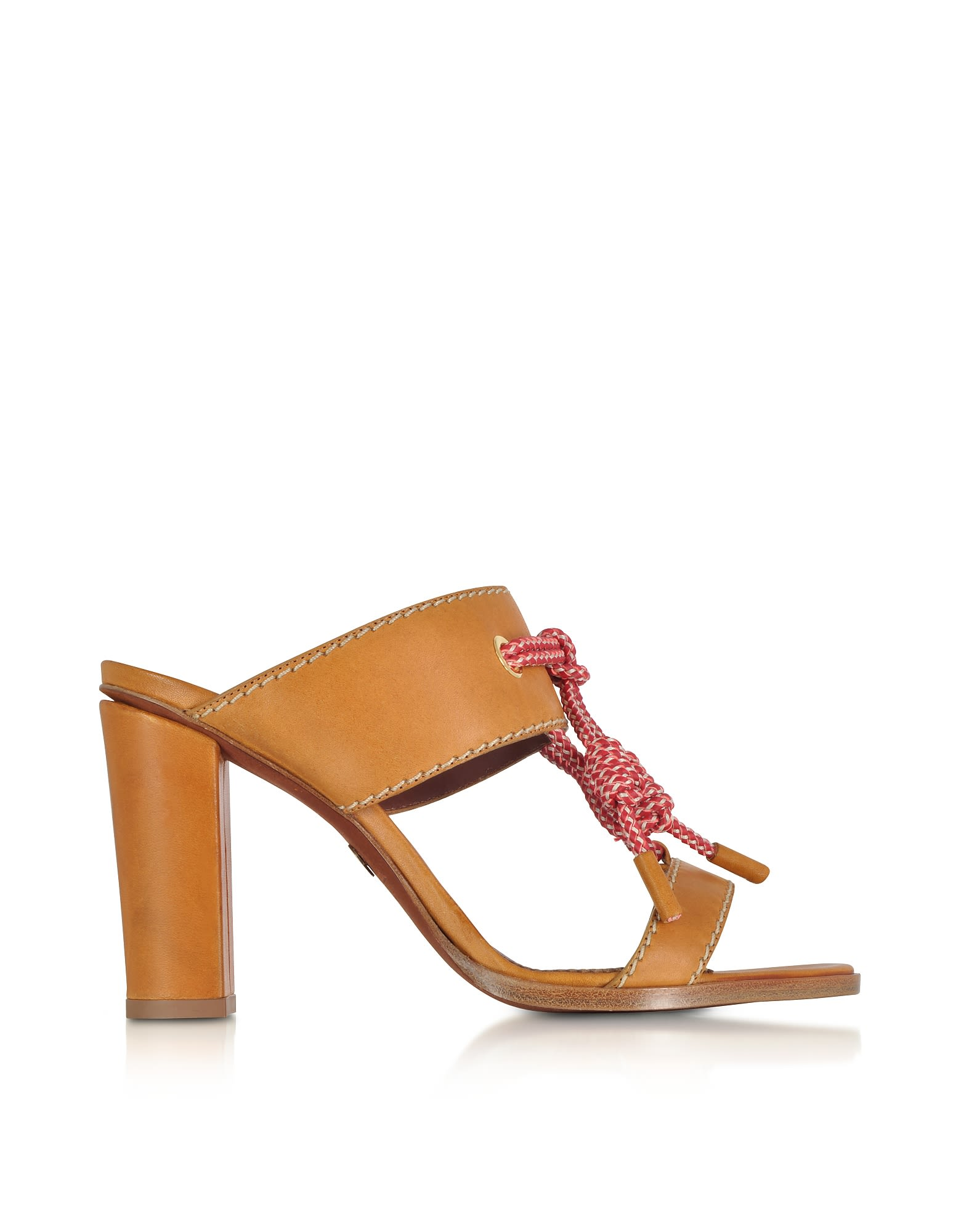 e18353a4a8 Dsquared2 Dsquared2 Camel Leather High Heel Sandals - Camel ...