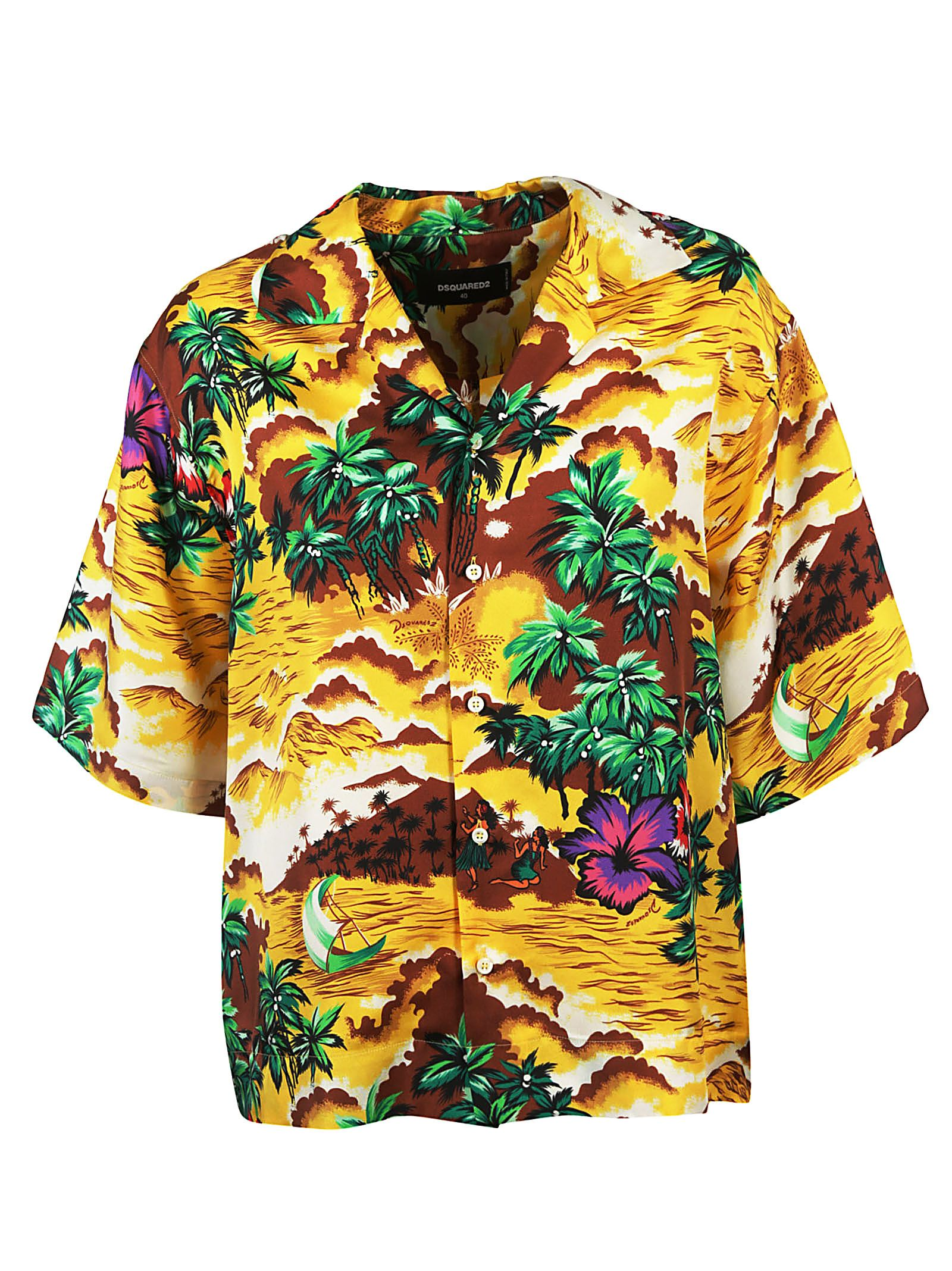 f63c8acb7 Dsquared2 DSquared2 Hawaiian Printed Shirt - Multicolor - 10570066 ...