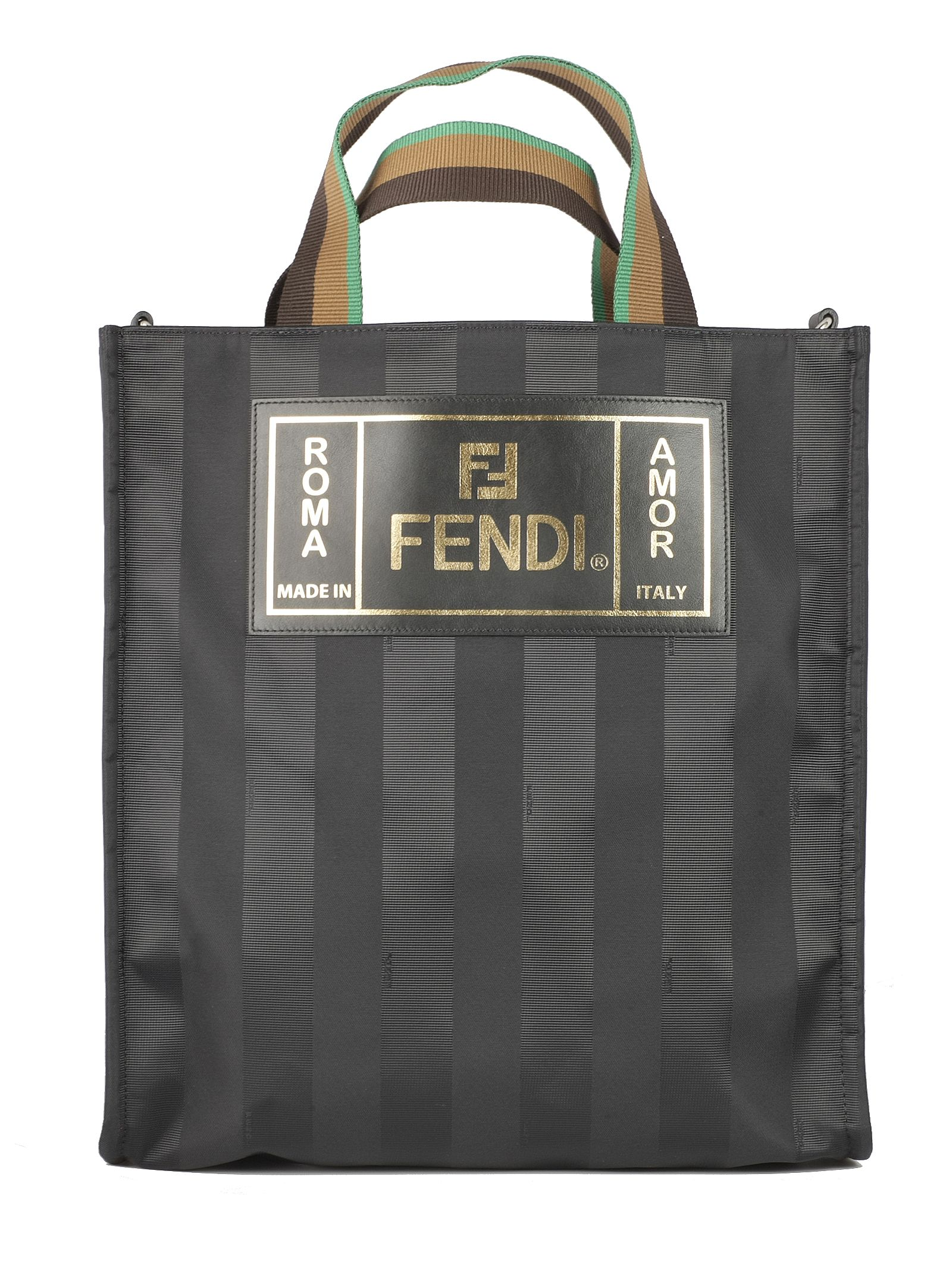 eda7bd81db Fendi Fendi Striped Shopper Bag - Basic - 10827898