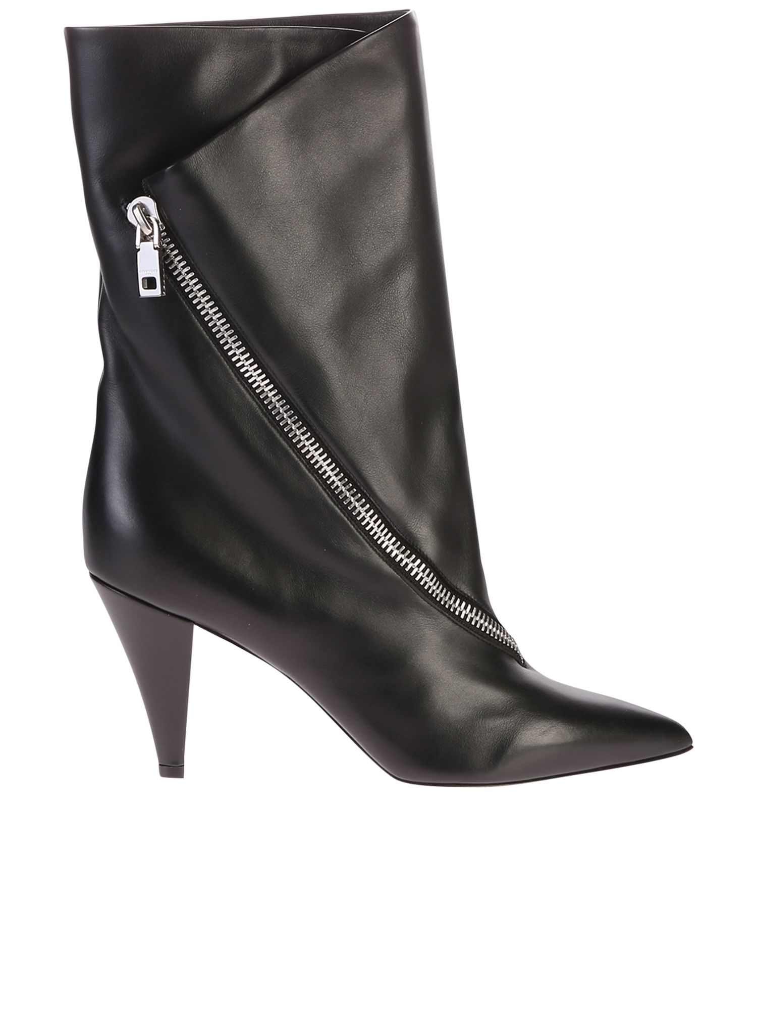 cc42628b2b00 Givenchy Black Zipped Boots - Black ...
