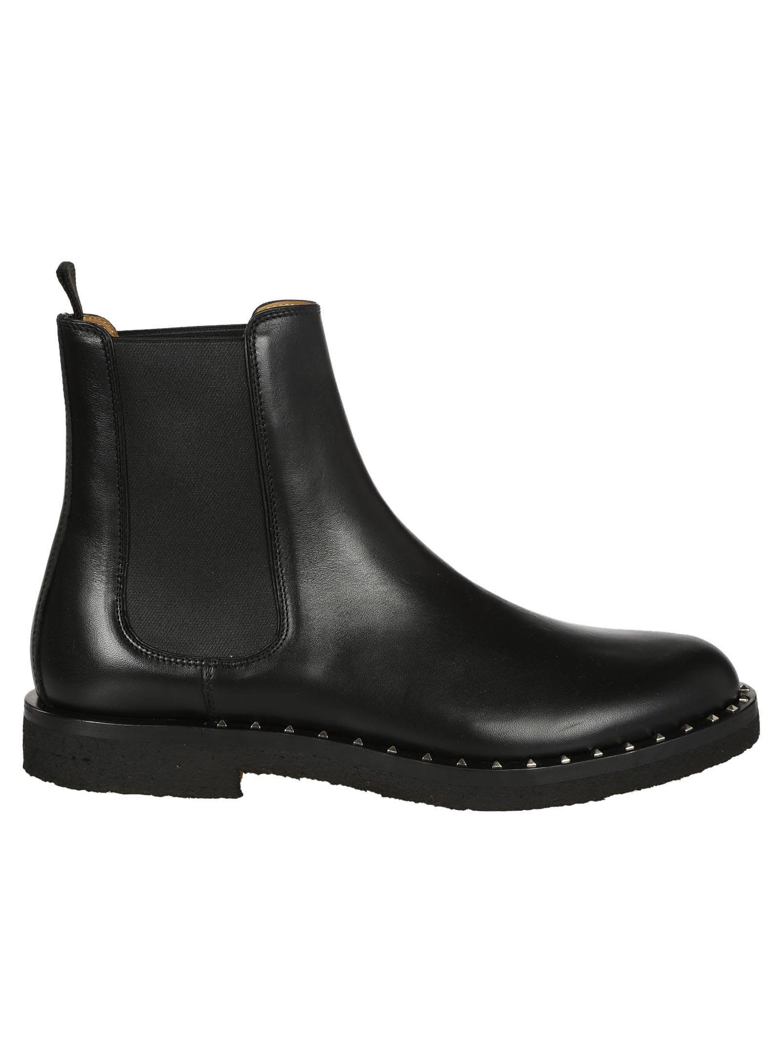 e74cbbc595 Valentino Garavani Valentino Garavani Soul Rockstud Boots - Black ...
