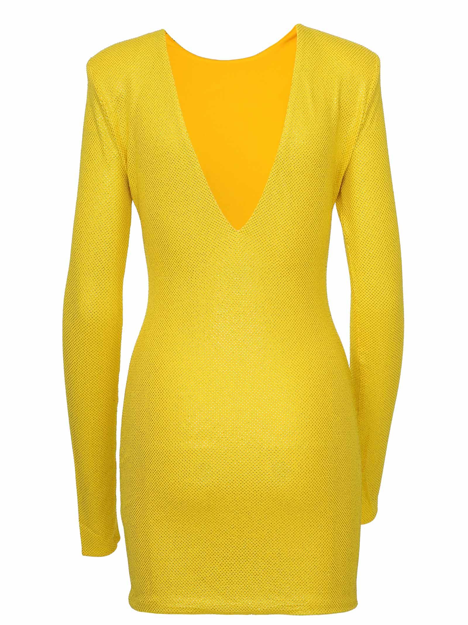 9a24a411 Alexandre Vauthier Dress - Yellow Alexandre Vauthier Dress - Yellow ...