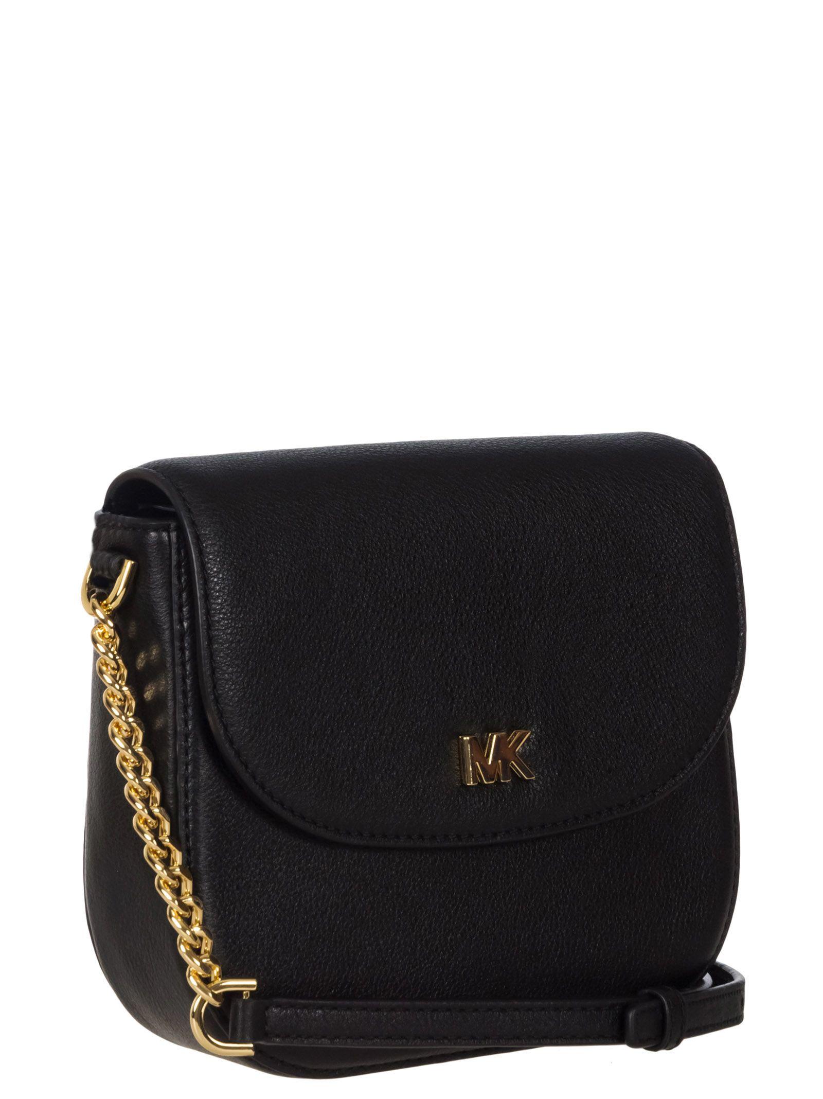03a4cdc64d Michael Kors Michael Kors Leather Crossbody Bag - Black - 10857614 ...