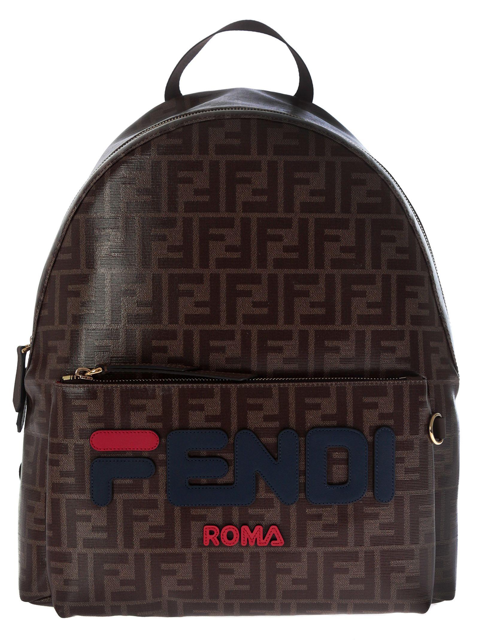 ca73cbe1b952 Fendi Fendi Fendimania Double F Print Backpack - 10800381