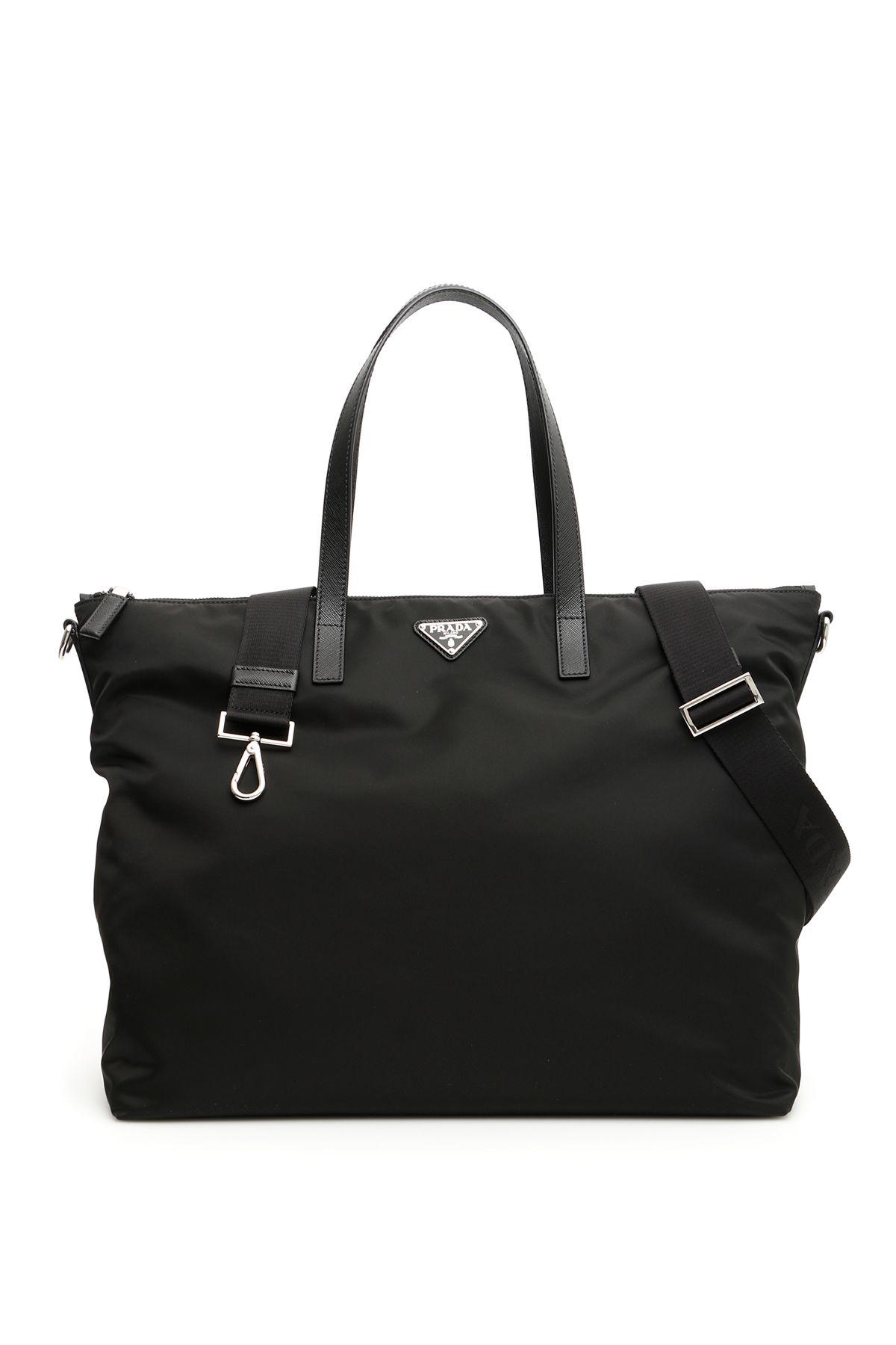 655b84f2f09e Prada Prada Nylon + Saffiano Tote Bag - NERO (Black) - 10962081 ...