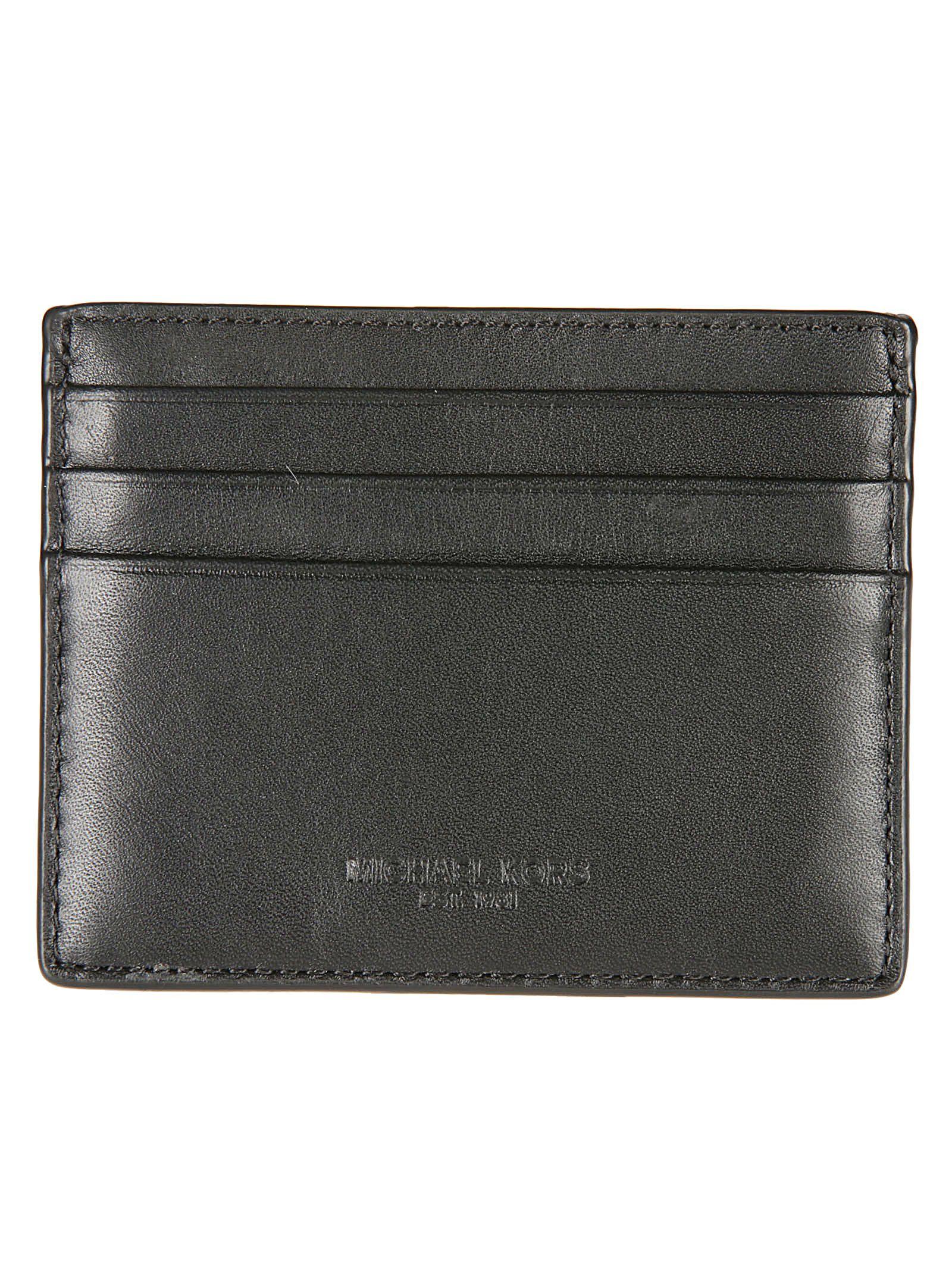 fa0ce595bb8c Michael Kors Michael Kors Odin Tall Card Holder - Black - 10746438 ...