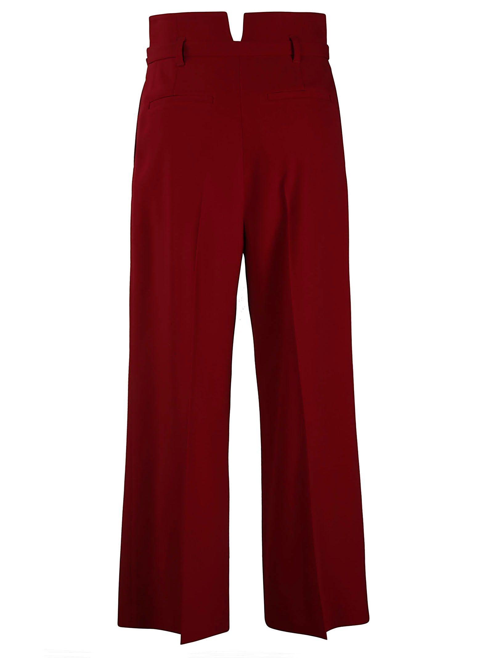 Valentino recortados cinturón recto con pantalones Red Cherry RSwzqHUqx
