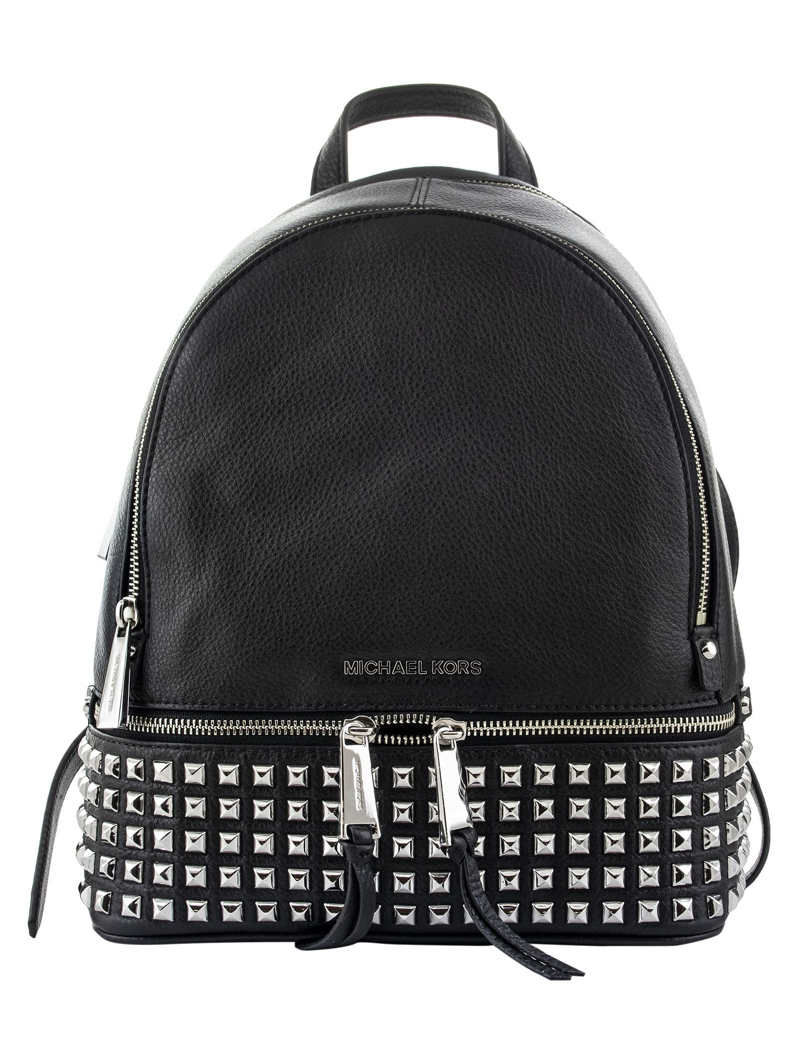 7370103c04d5 Michael Kors Michael Kors Logo Plaque Backpack - BLACK - 10853857 ...