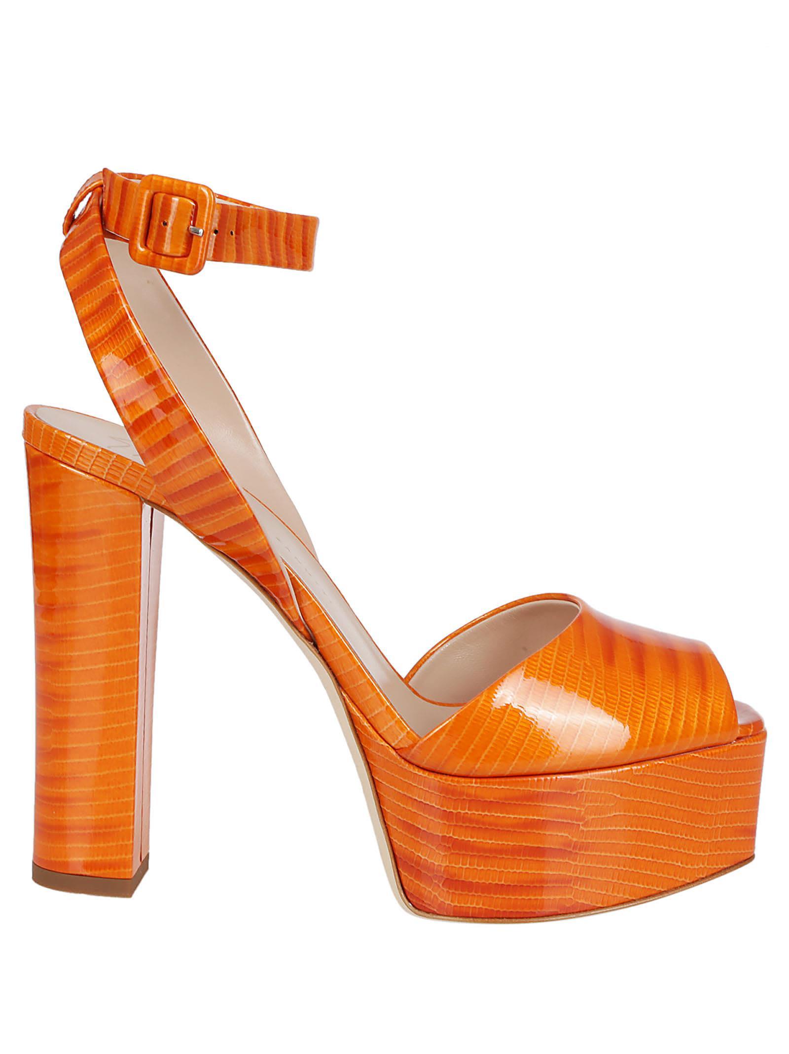 cd9e4948928 Giuseppe Zanotti Giuseppe Zanotti Betty Platform Sandals - Orange ...