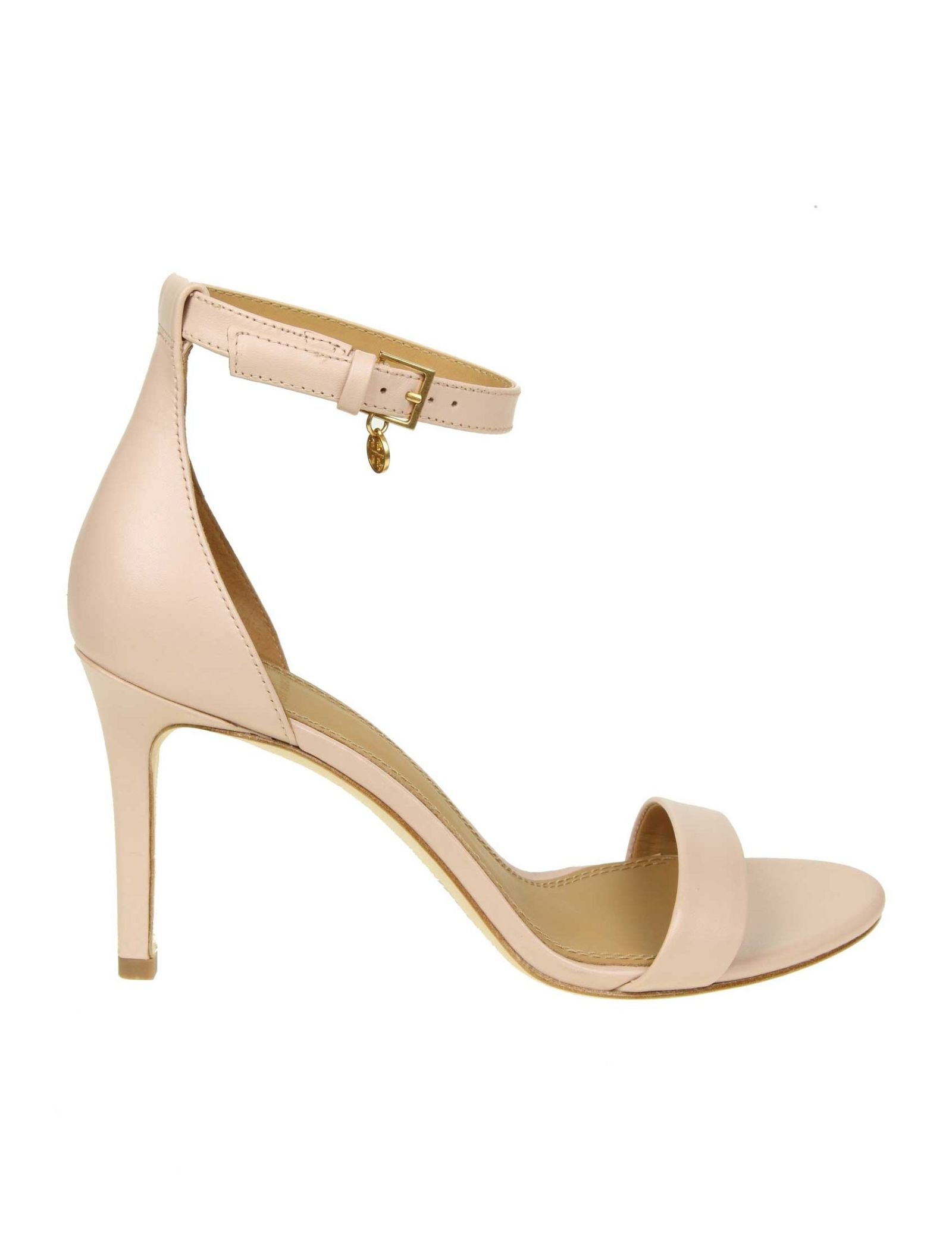48ce1922c7e Tory Burch Tory Burch Sandal Ellie In Leather Pink Cipria - Pink ...