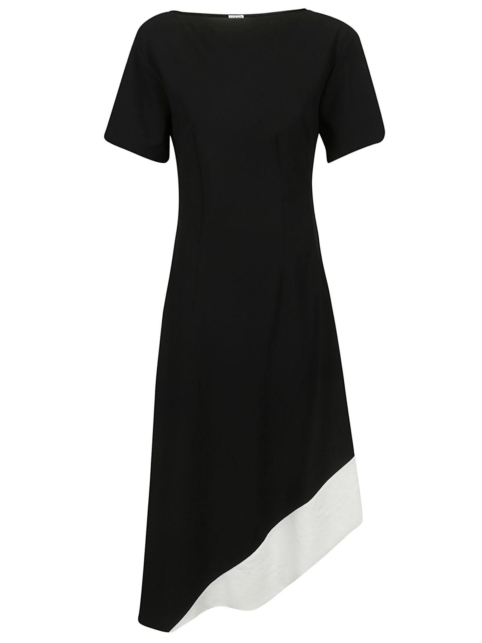 Italist Blackwhite Dress Asymmetric 10737596 Loewe wPUOqw