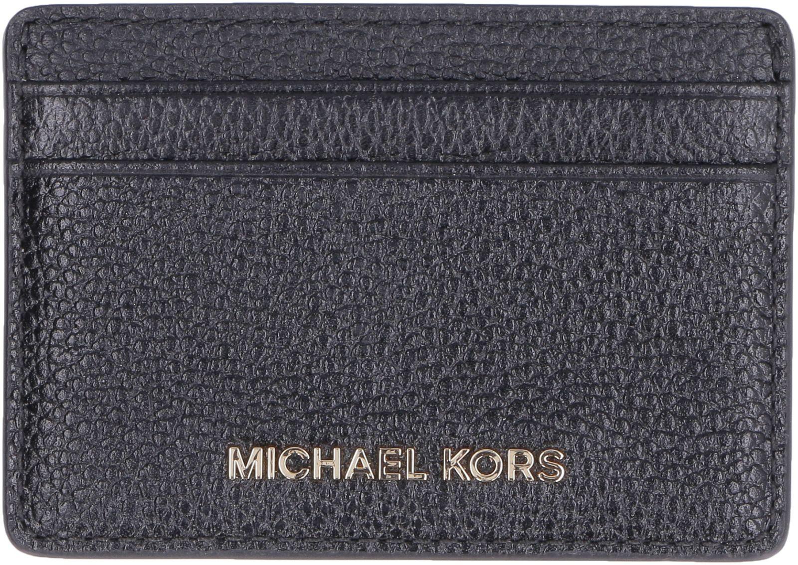 964e2d1f7127 Michael Kors Michael Kors Money Pieces Pebbled Leather Card Holder ...